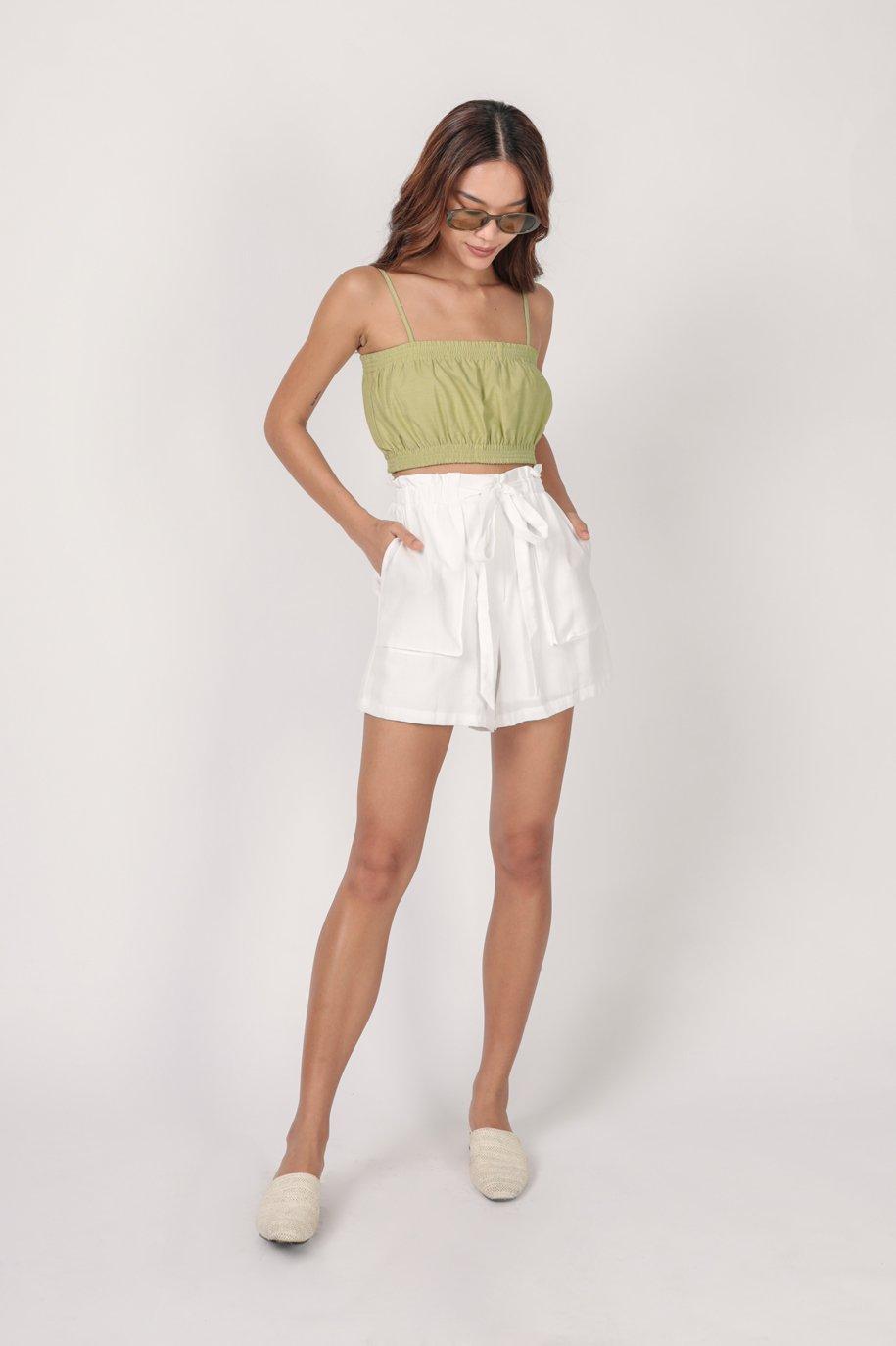 Jed Drawstring Shorts (White)