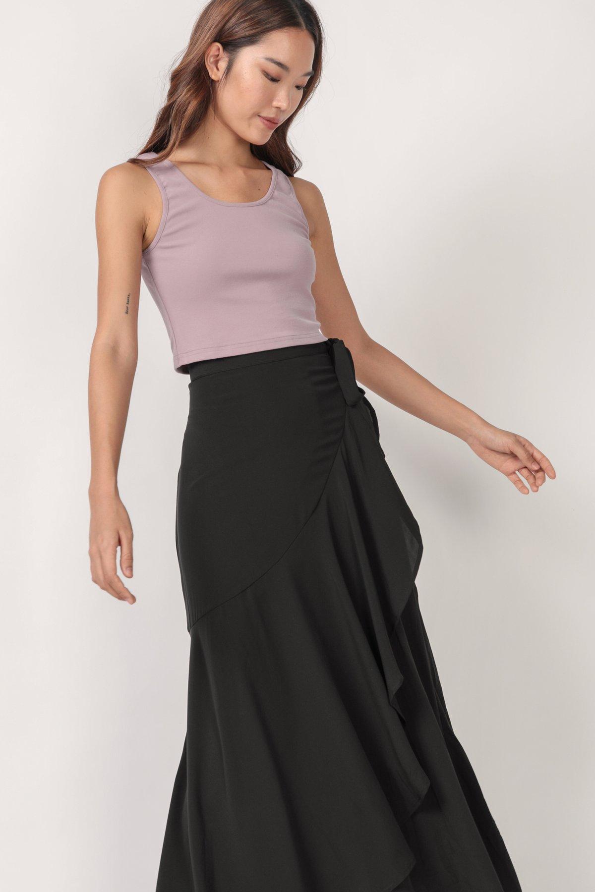 Sarina Maxi Skirt (Black)