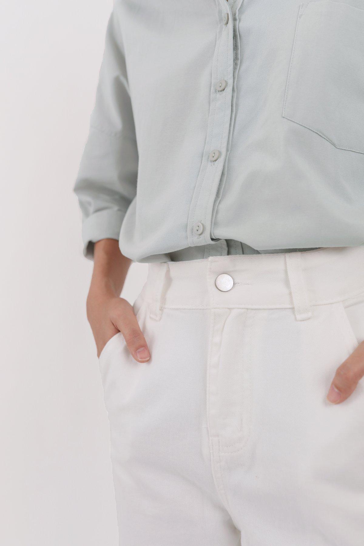 Steve Straight Leg Jeans (White)