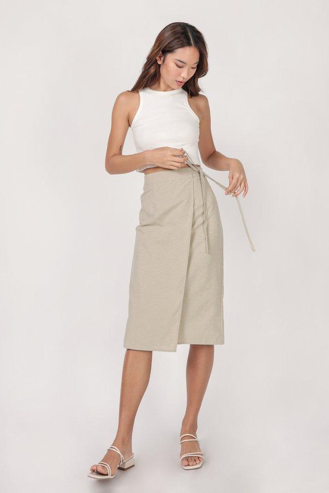 Brighton Midi Skirt (Oat)