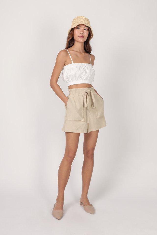 Jed Drawstring Shorts (Nude)