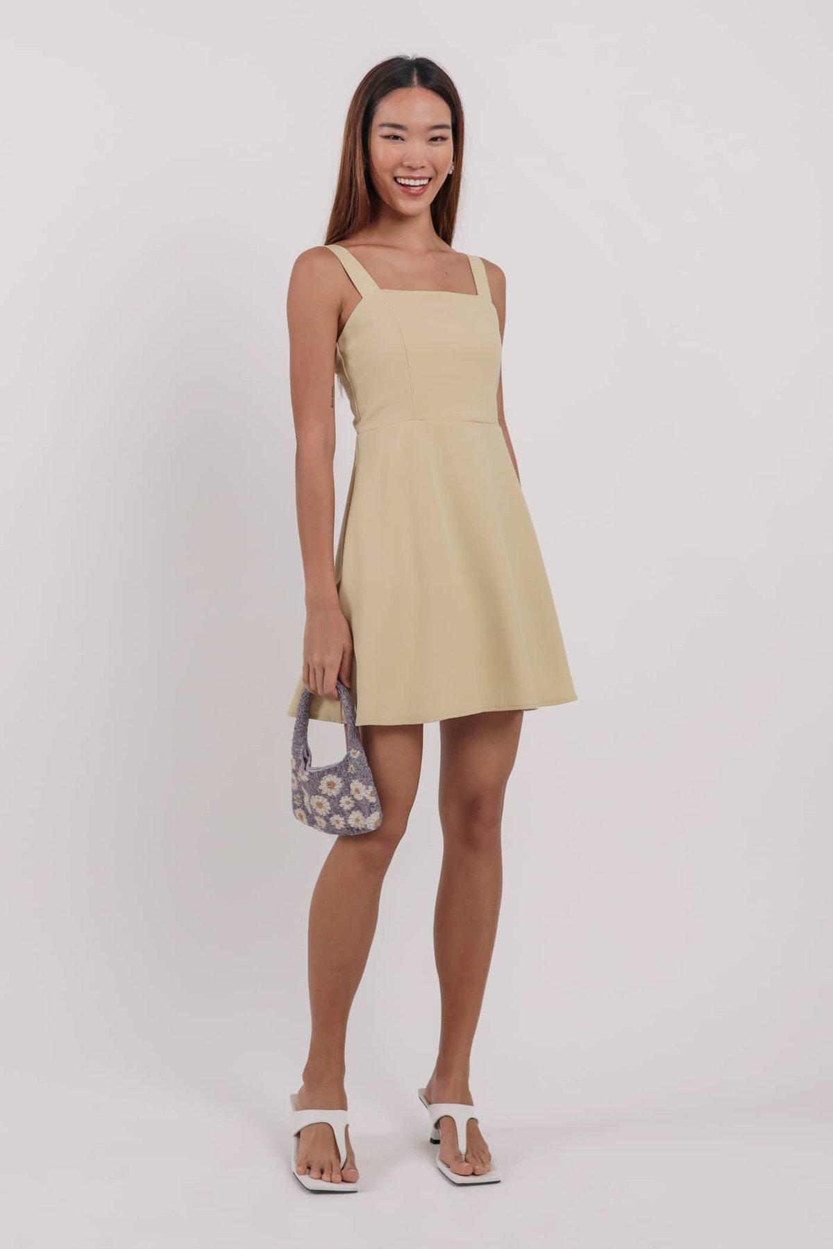Alexia Flare Dress (Lemon)