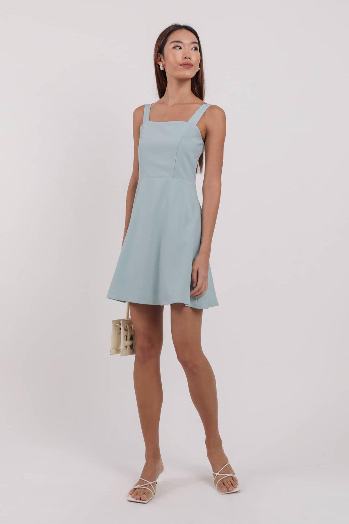 Alexia Flare Dress (Tiffany Blue)