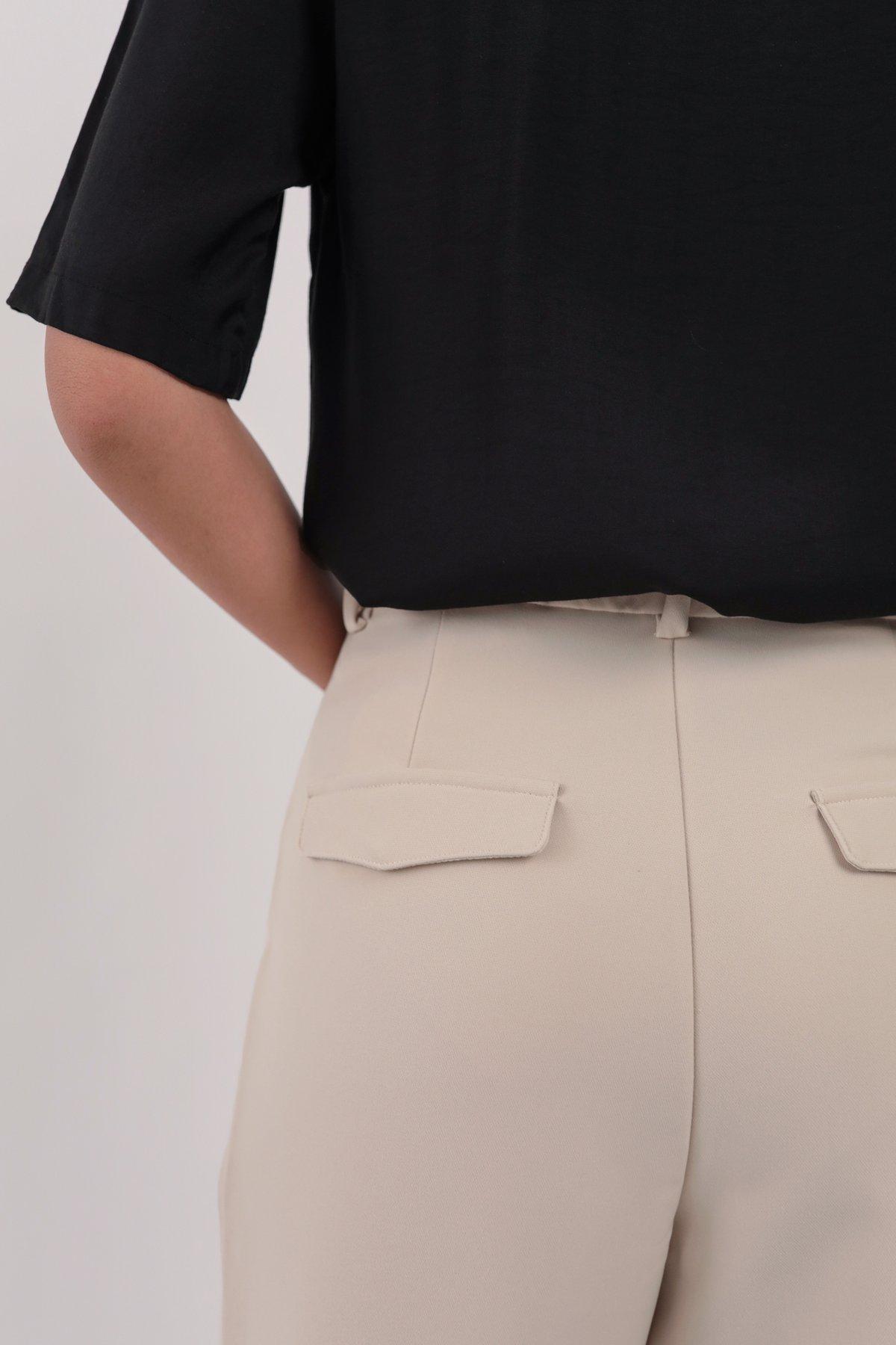 Baxter Cuffed Pants (Beige)