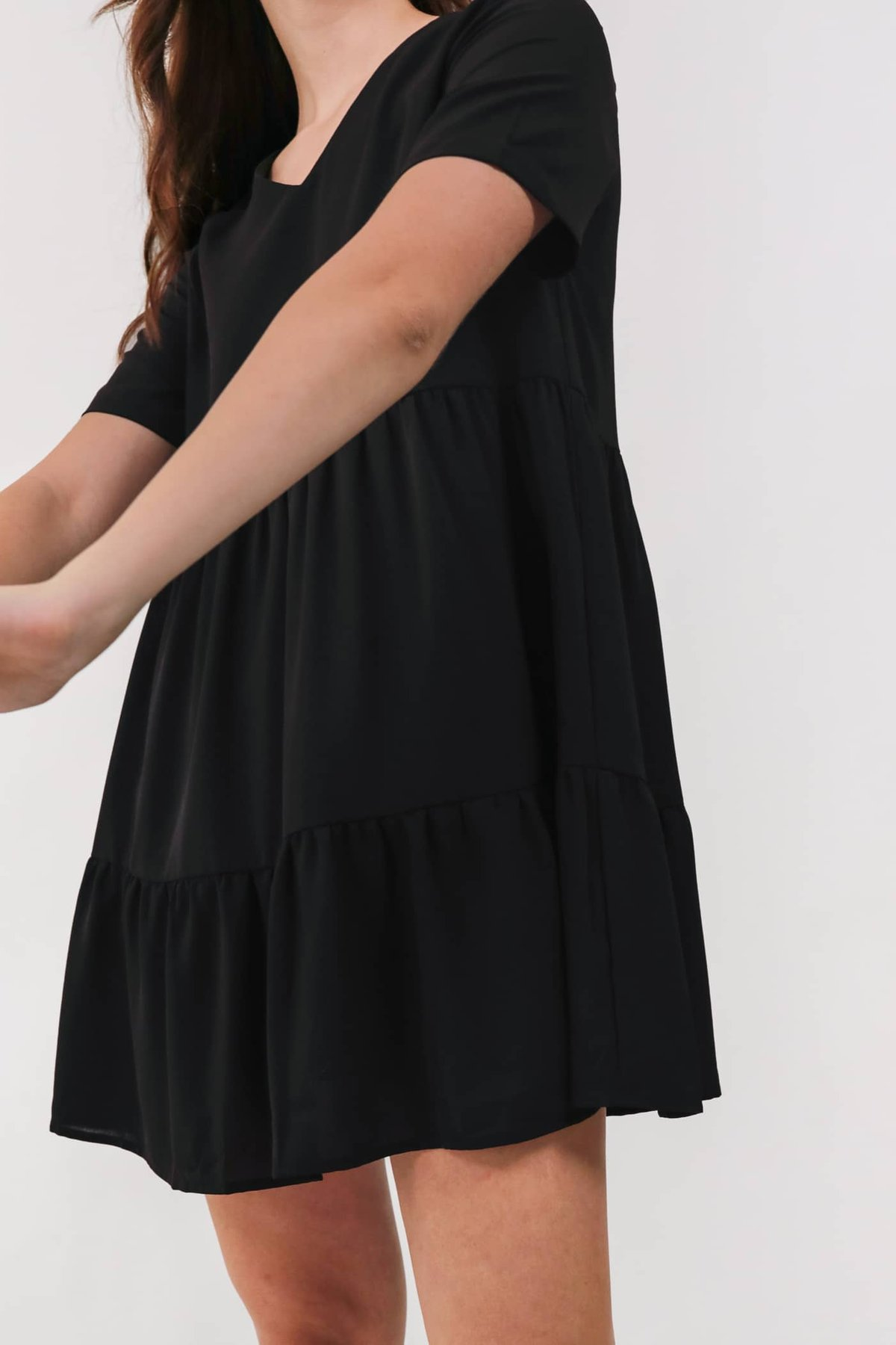 Bella Babydoll Dress (Black)