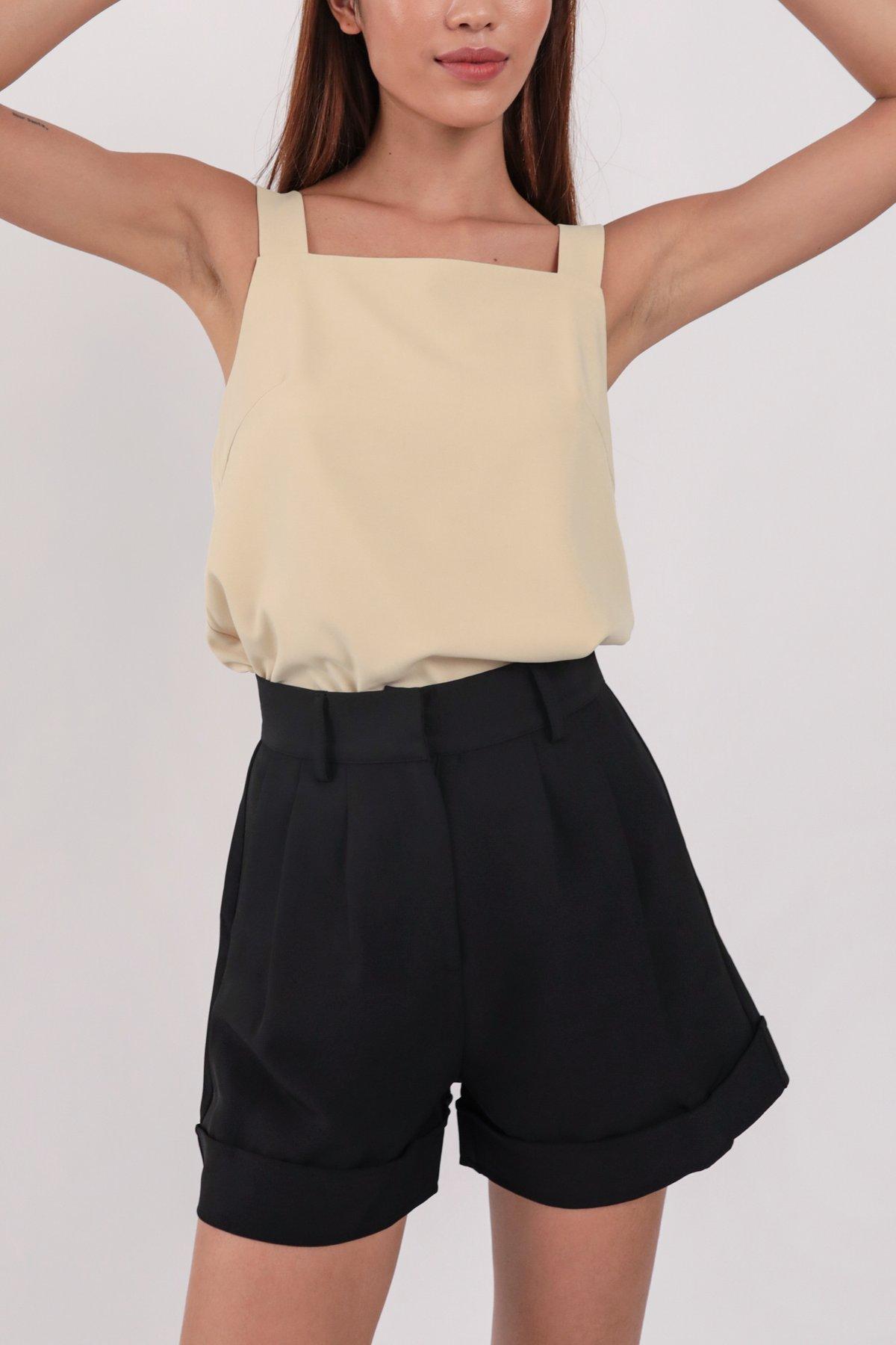 Brook Tailored Shorts (Black)