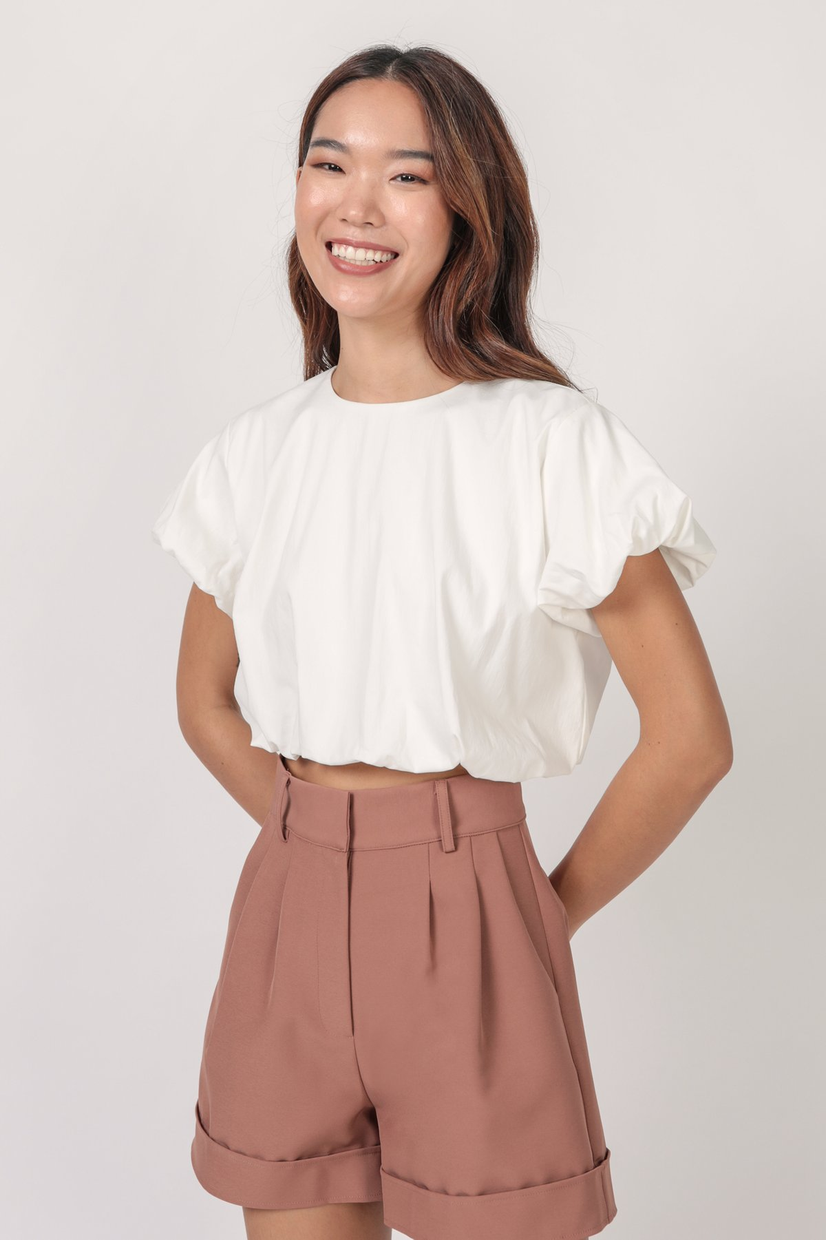 Brook Tailored Shorts (Cocoa)