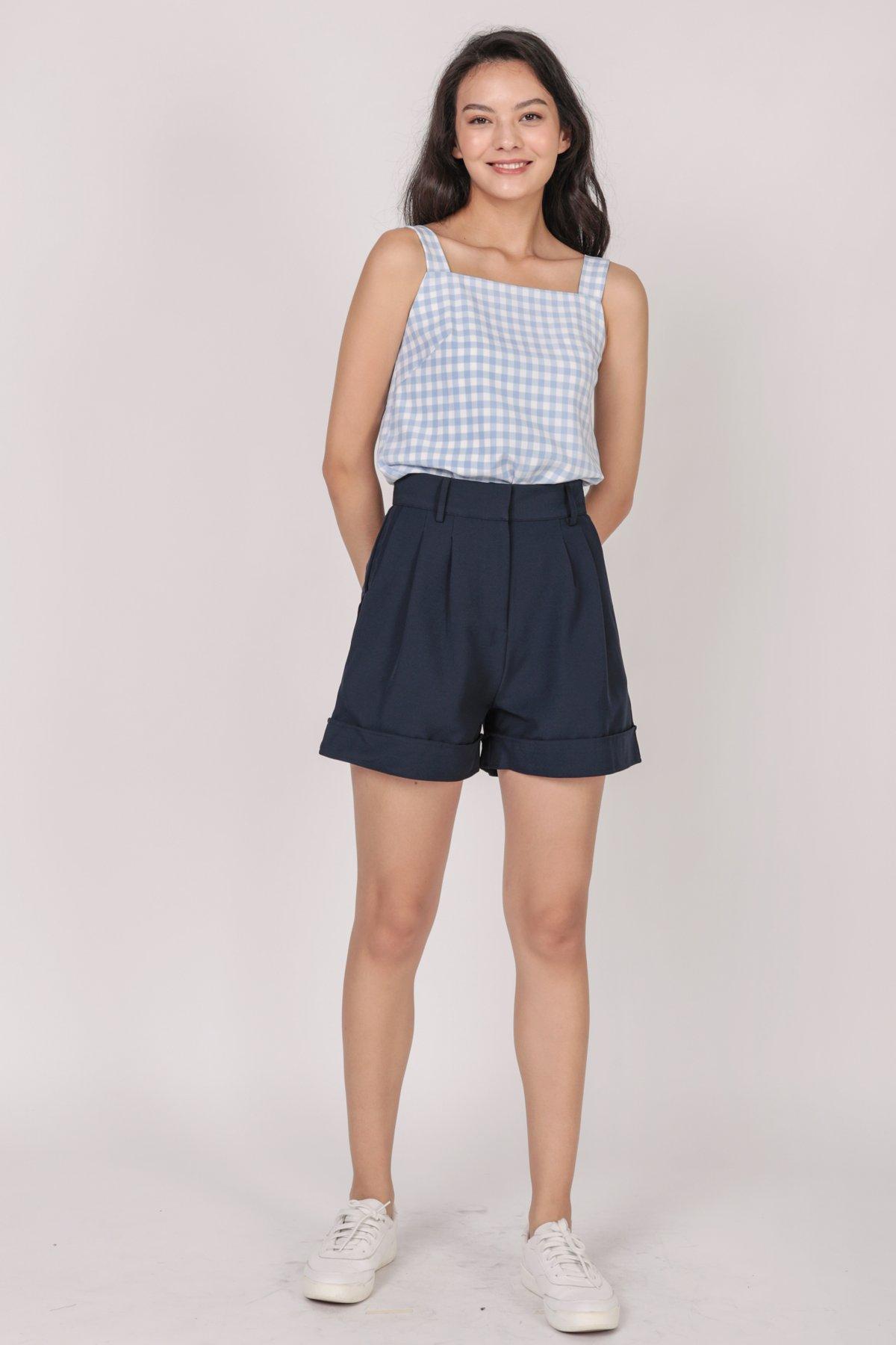 Brook Tailored Shorts (Navy)