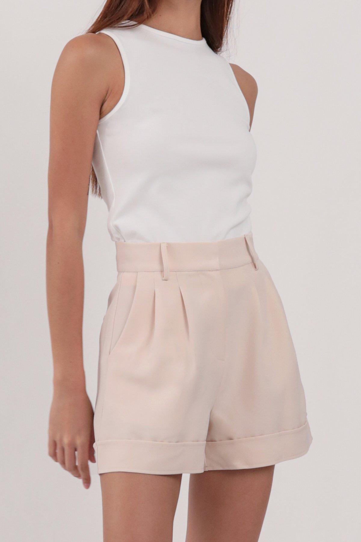 Brook Tailored Shorts (Peony Pink)