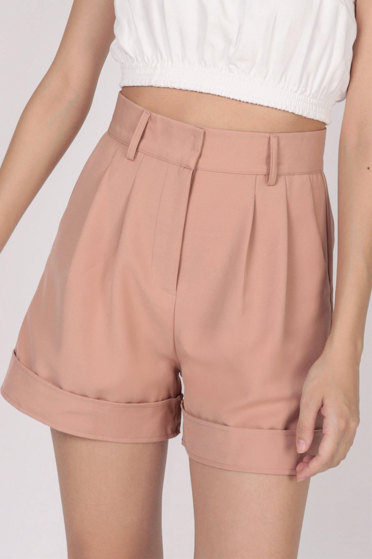 Brook Tailored Shorts (Tea Rose)