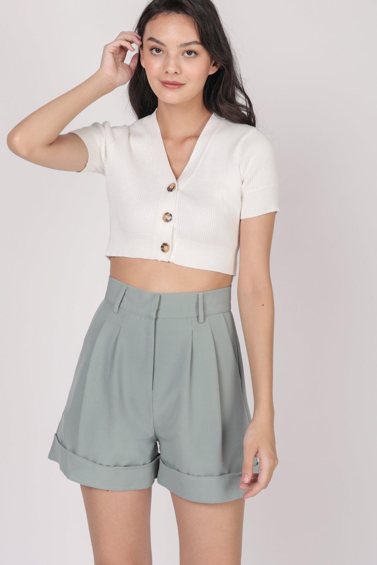 Brook Tailored Shorts (Seafoam)