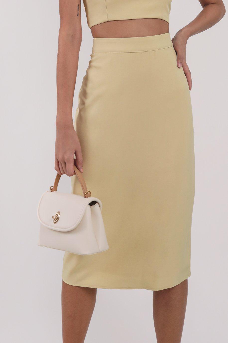 Garin Midi Skirt (Lemon)
