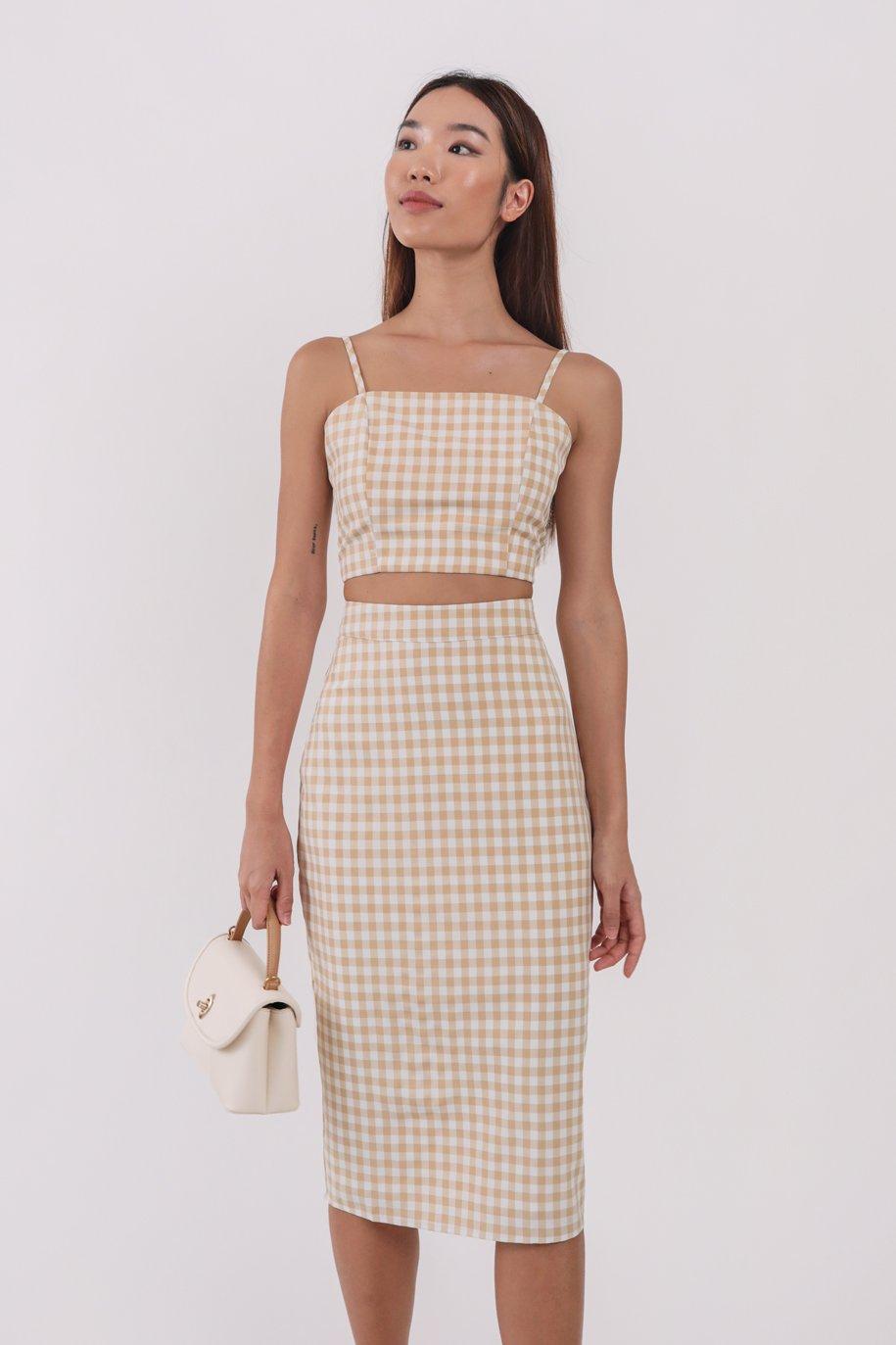 Garin Midi Skirt (Vintage Gingham)