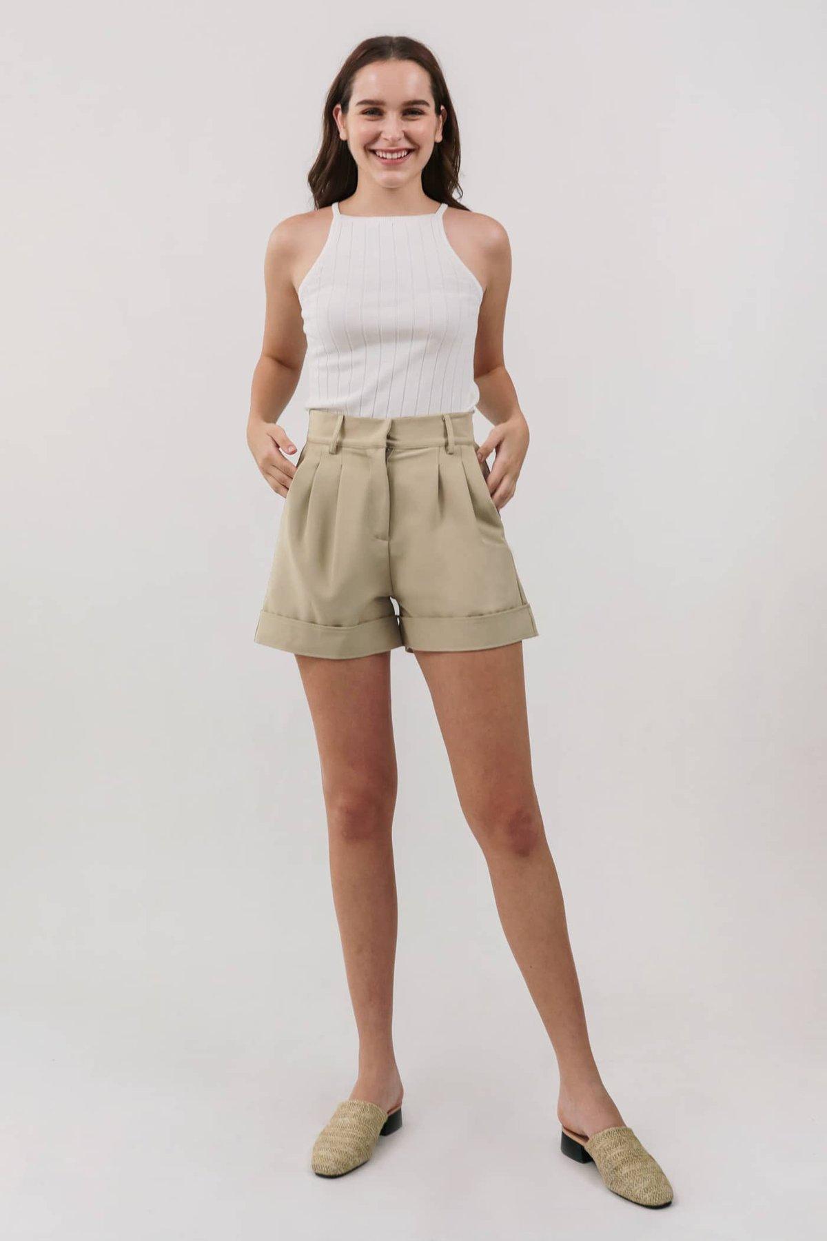 Hadi Halter Knit Top (White)
