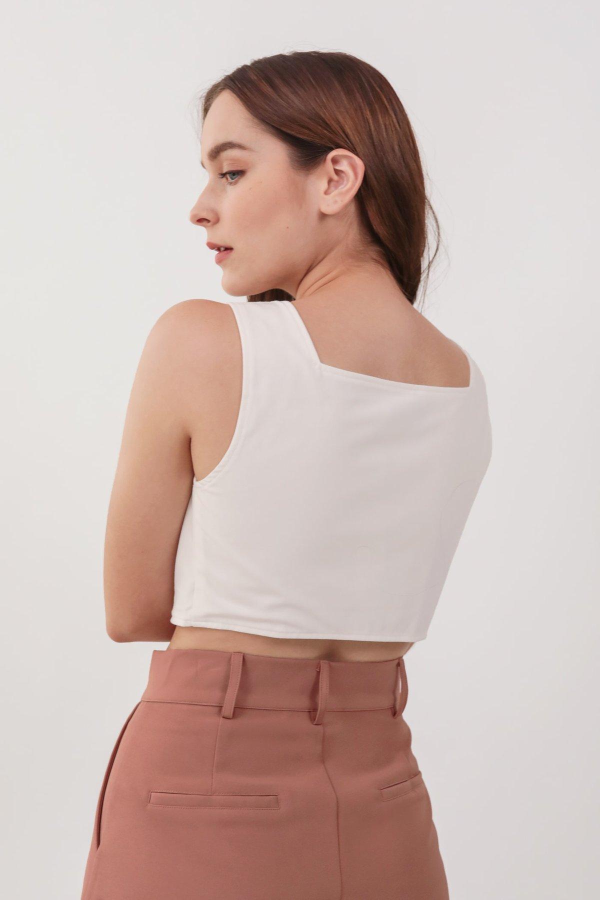 Kori Button Top (White)