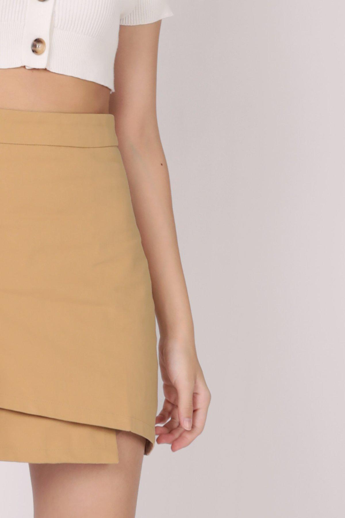 Louie Asymmetrical Skirt (Sand)