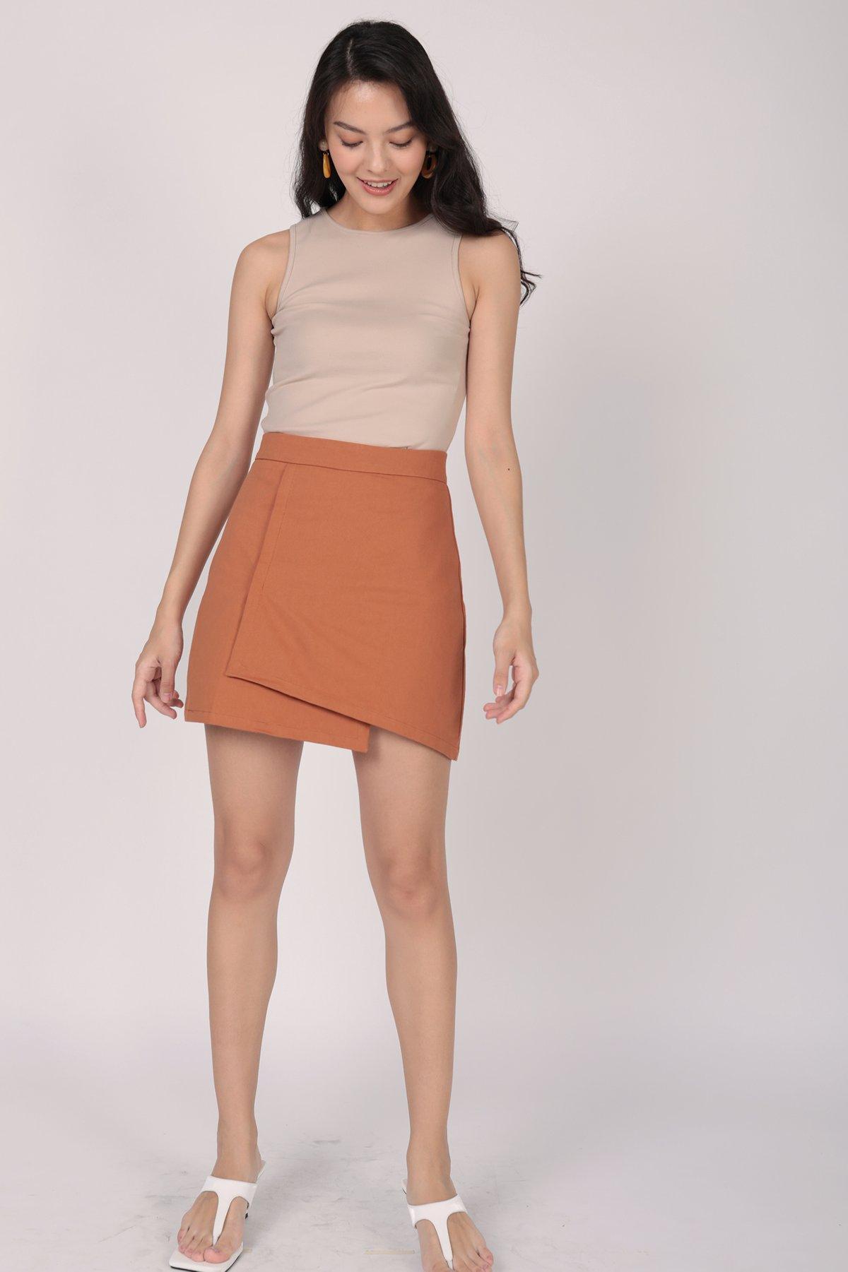 Louie Asymmetrical Skirt (Sienna)