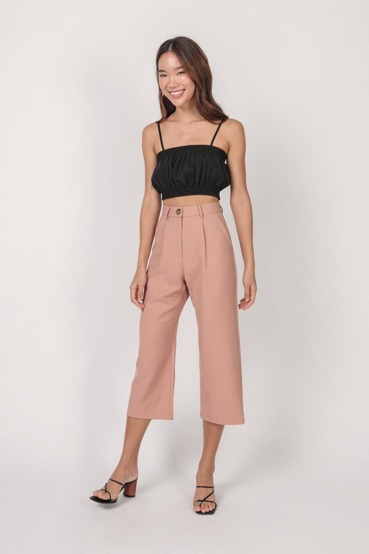 Mallory Cropped Top (Black)