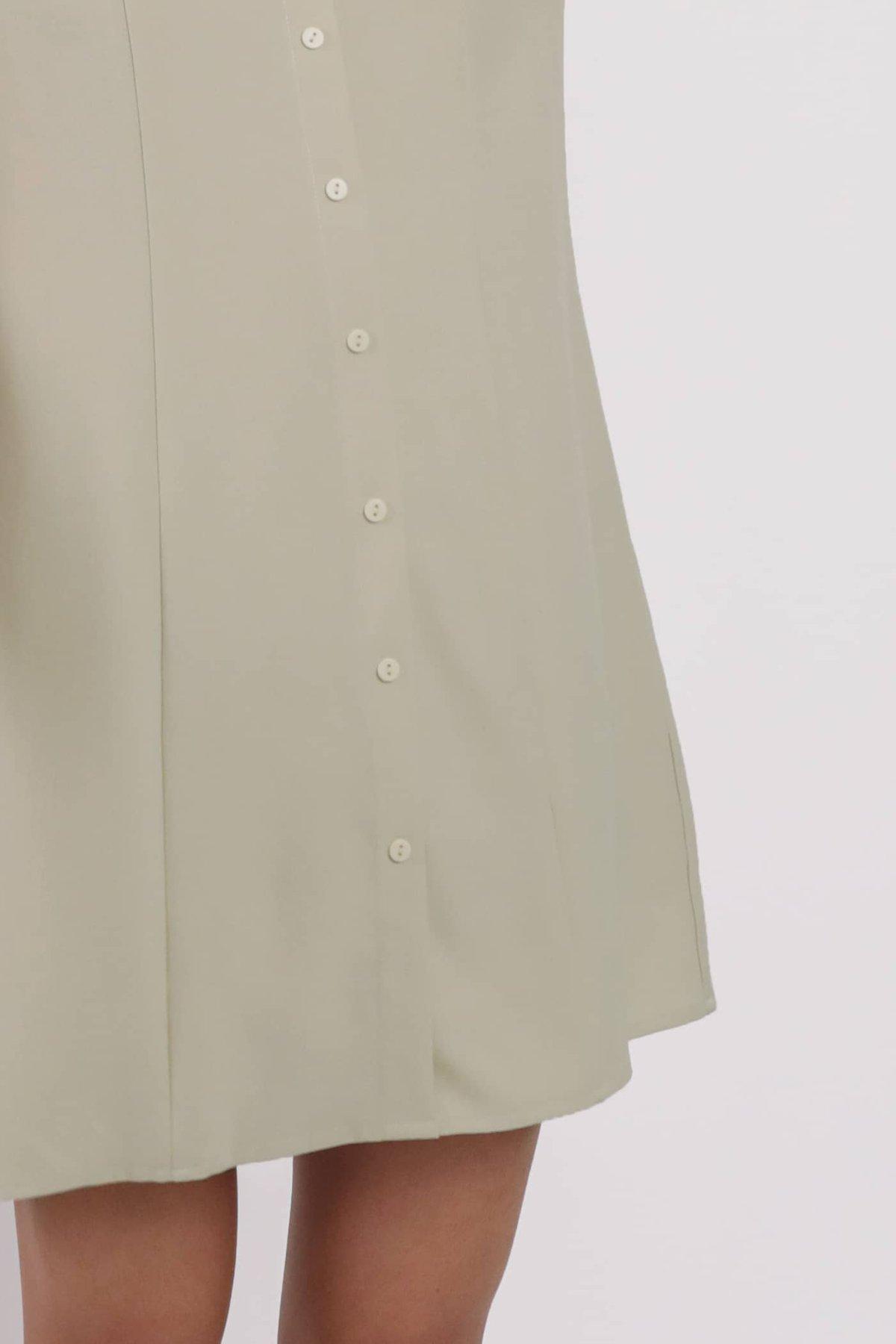 Nally Sleeved Dress (Light Mint)
