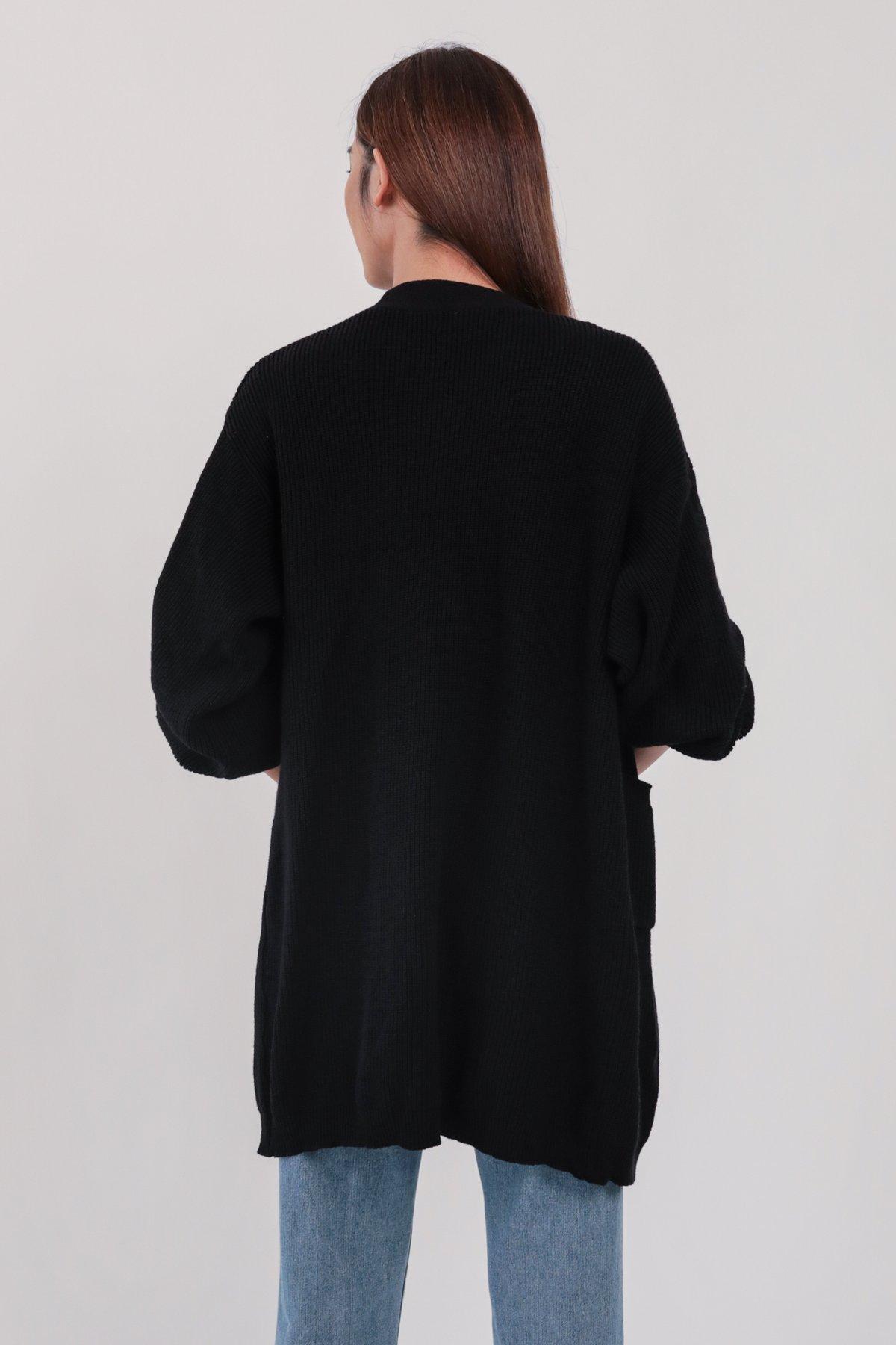 Oscar Knit Cardigan (Black)