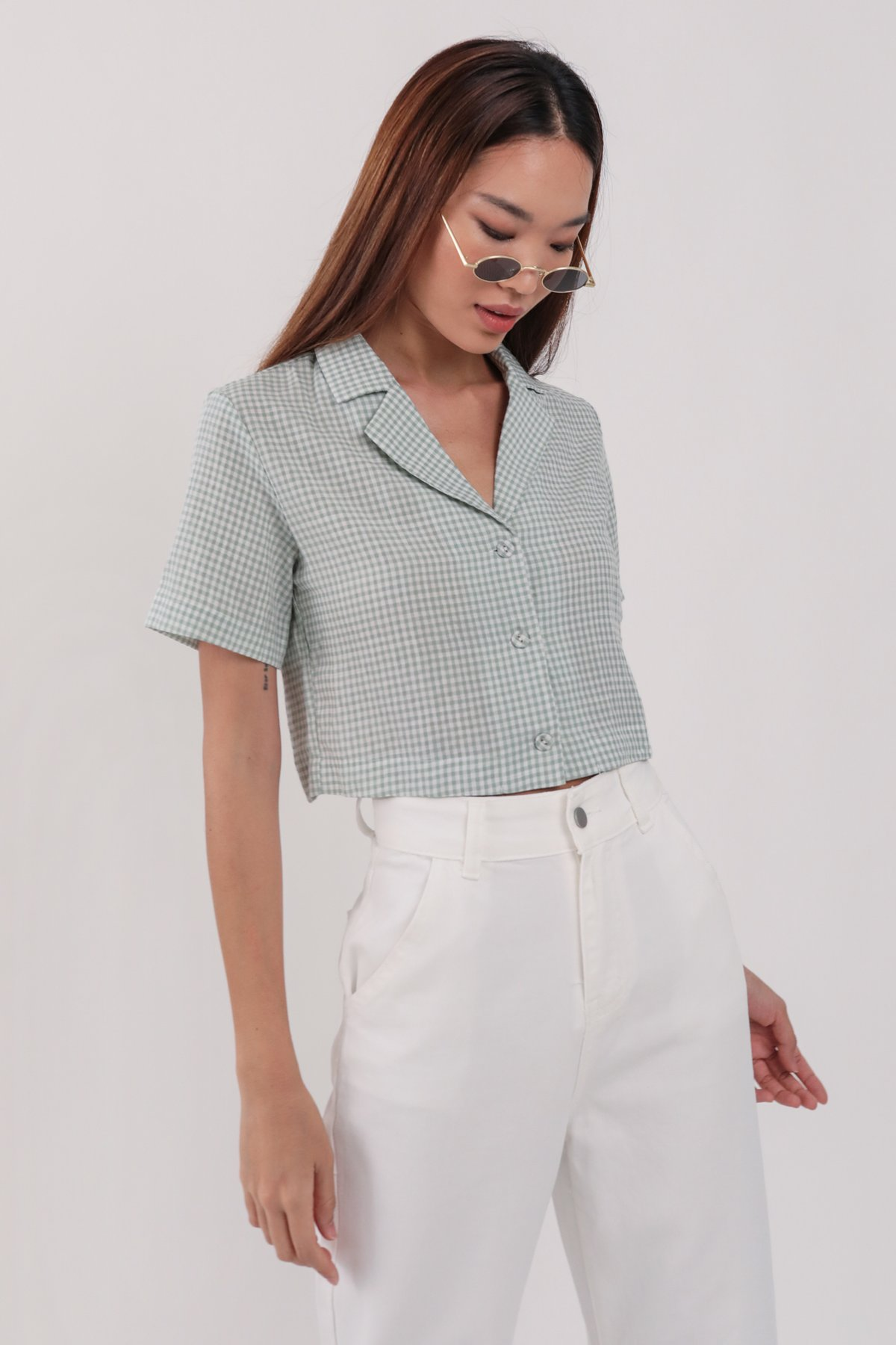 Parco Collared Top (Gingham)
