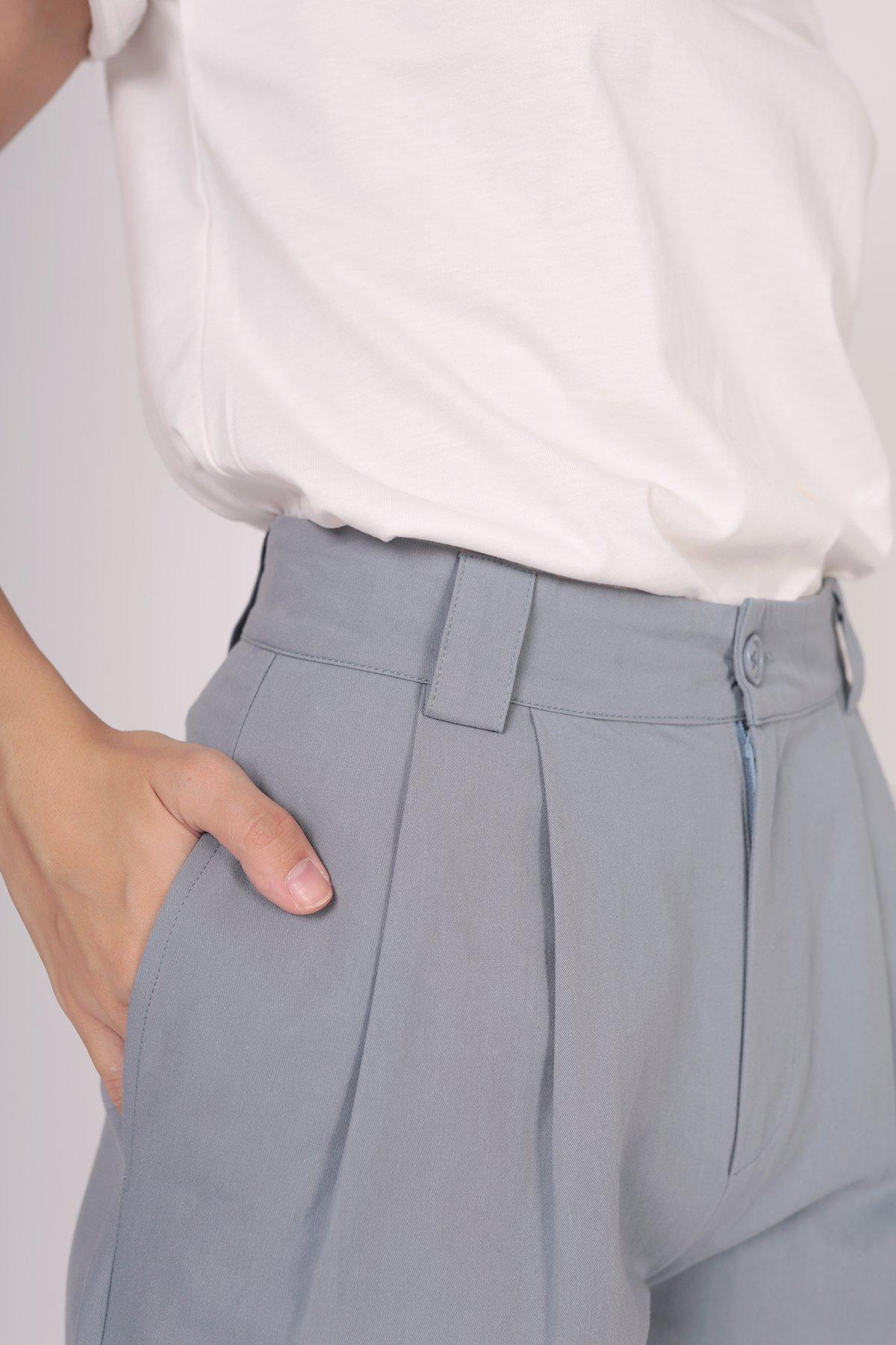 Rico Peg Leg Pants (Dusty Blue)