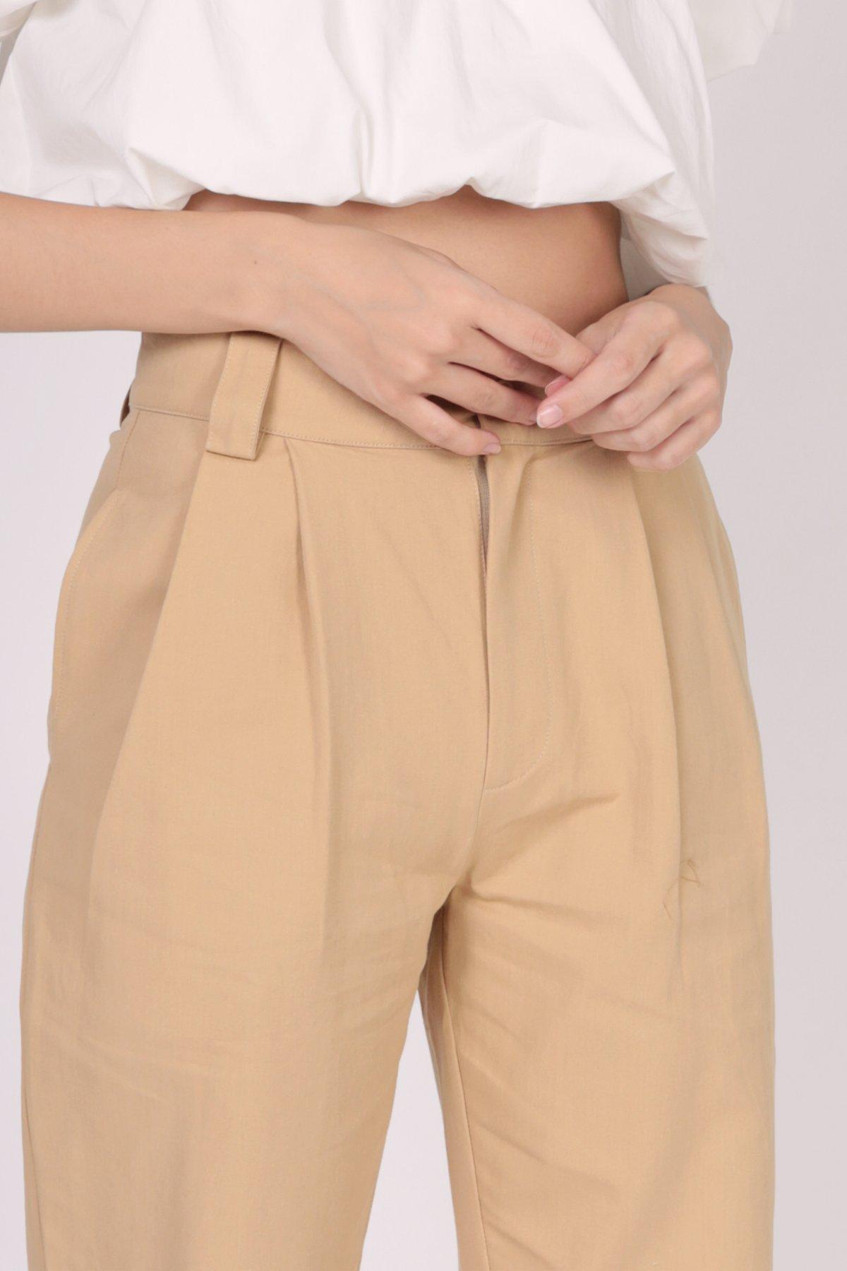 Rico Peg Leg Pants (Khaki)