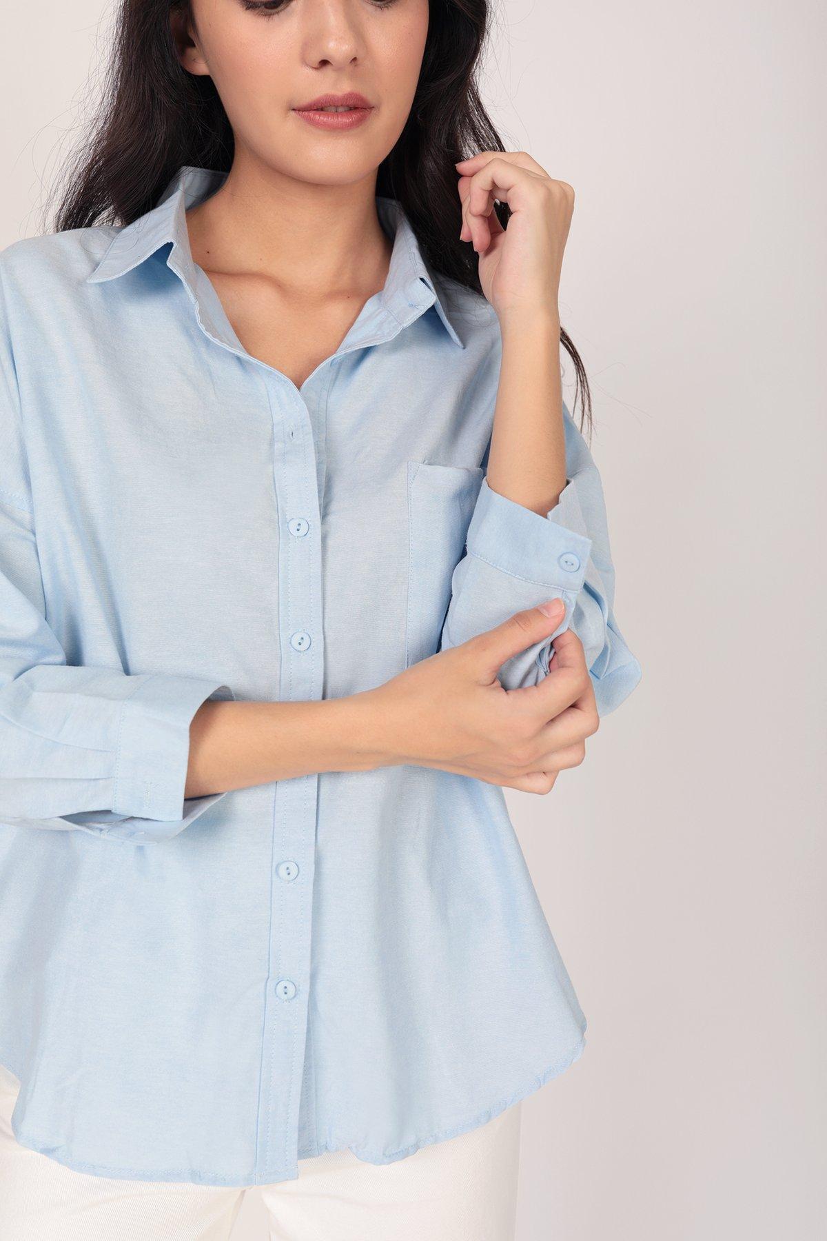 Sanford Boyfriend Shirt (Blue)