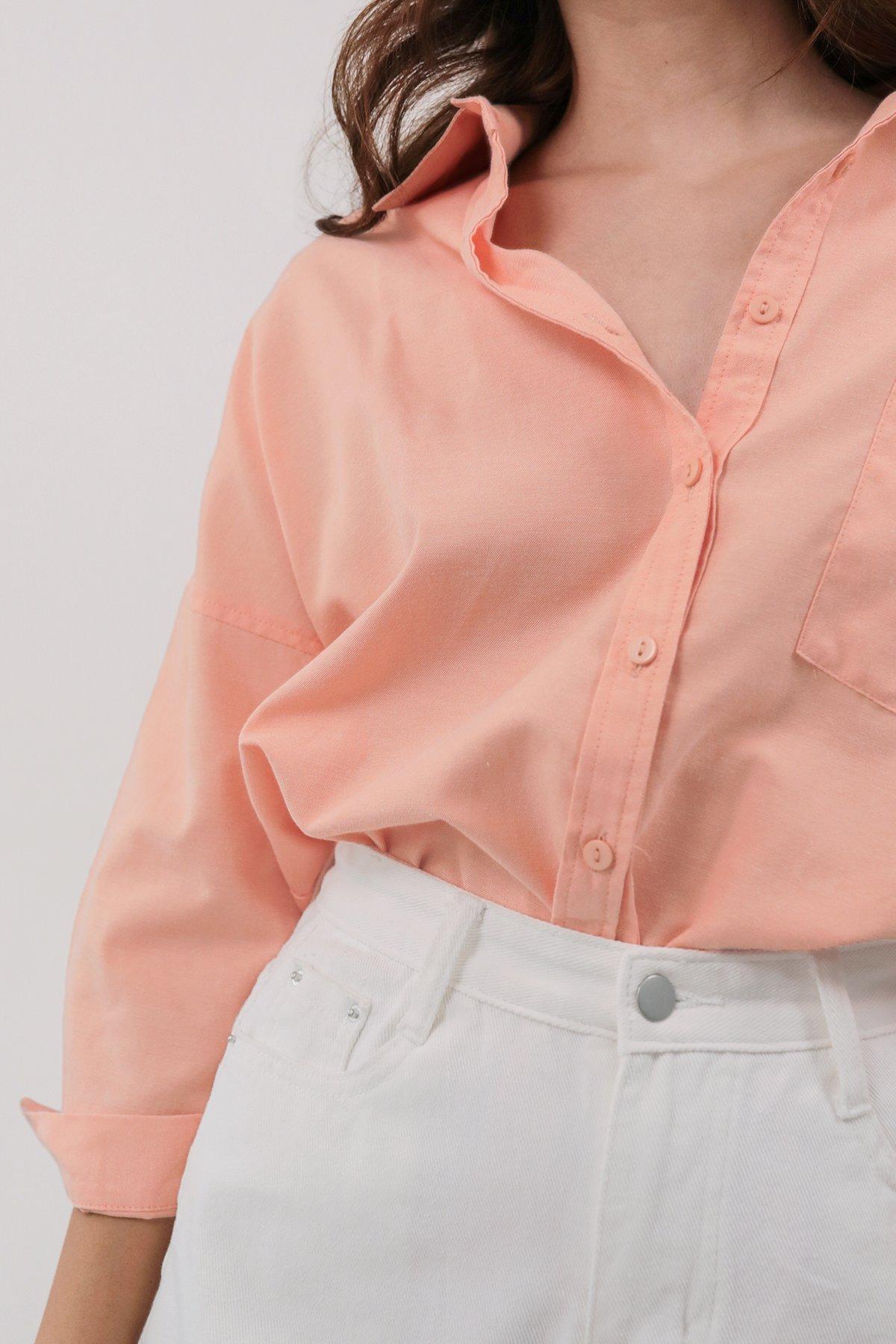 Sanford Boyfriend Shirt (Peach)