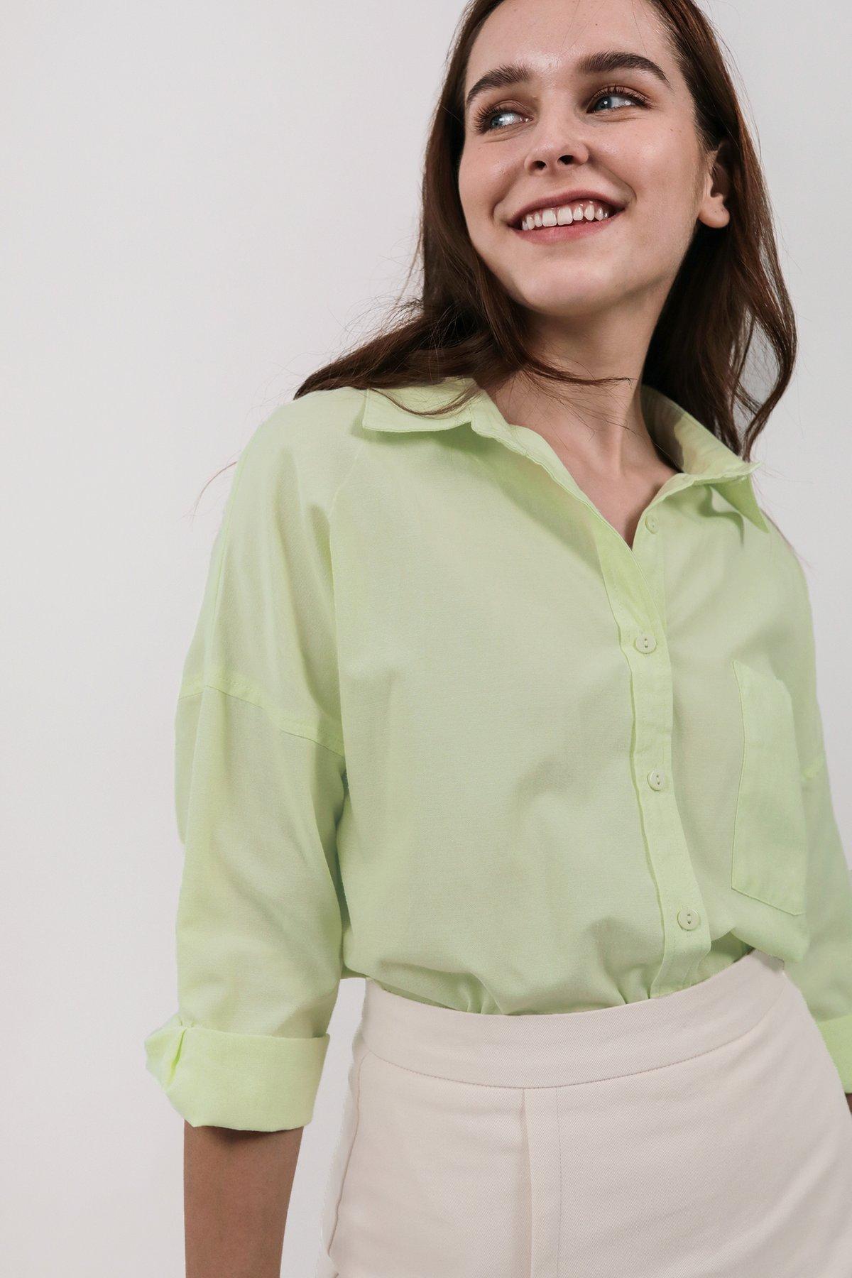 Sanford Boyfriend Shirt (Apple Green)