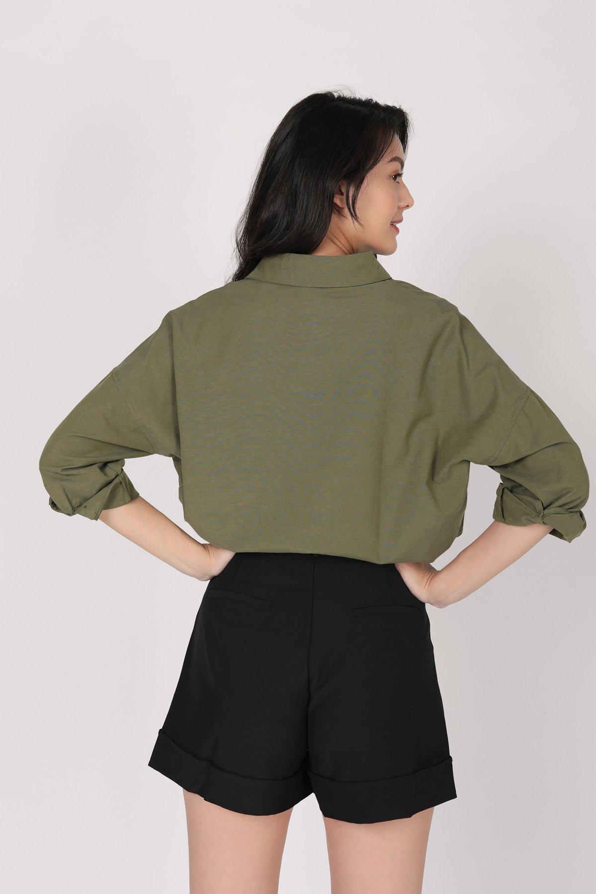 Sanford Boyfriend Shirt (Olive)