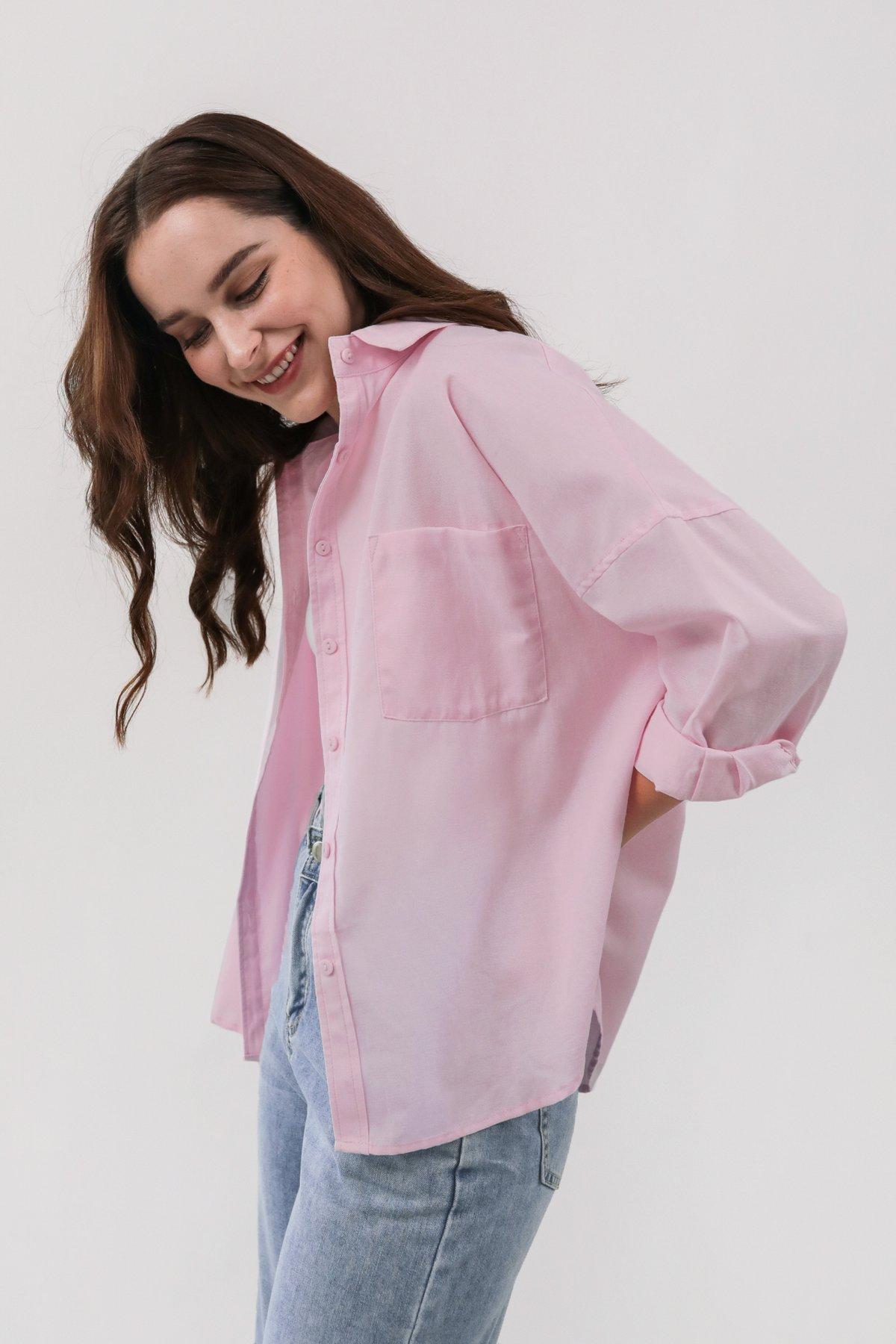 Sanford Boyfriend Shirt (Pink)