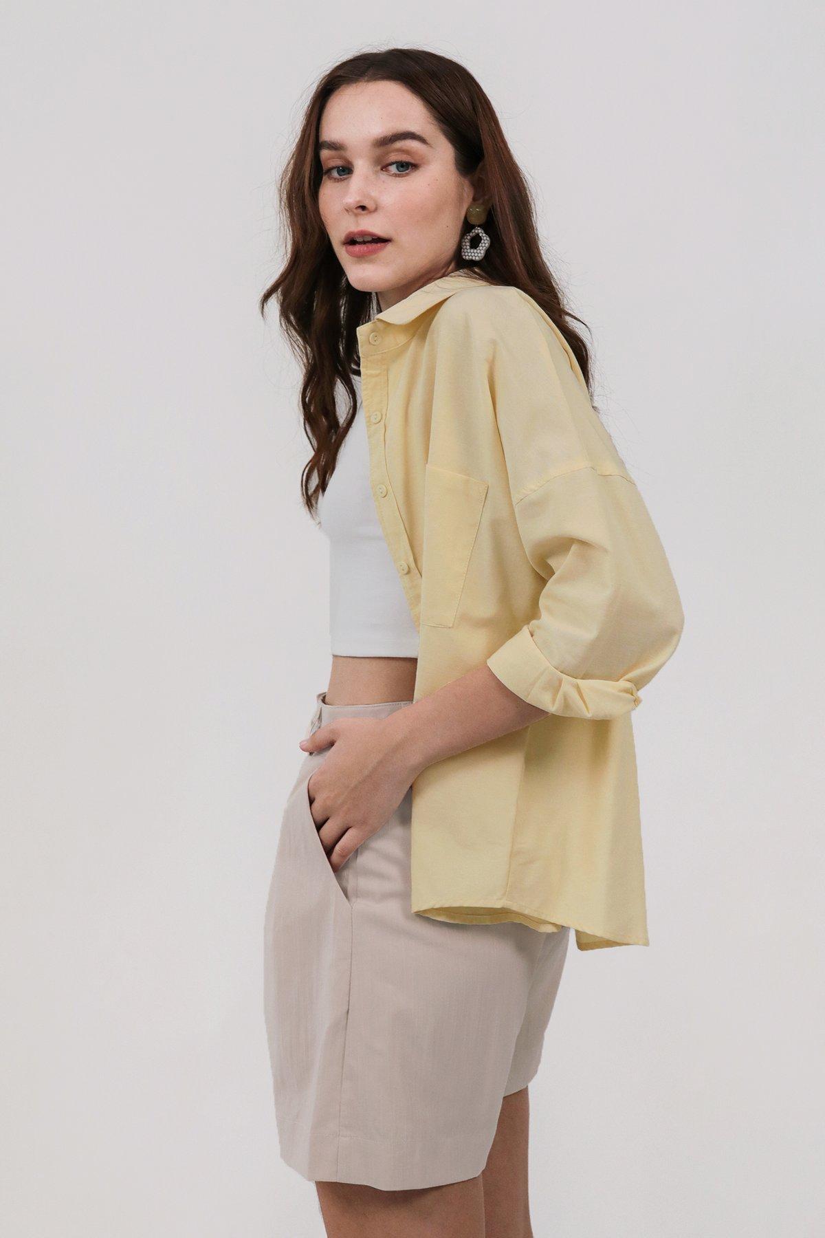 Sanford Boyfriend Shirt (Lemon)