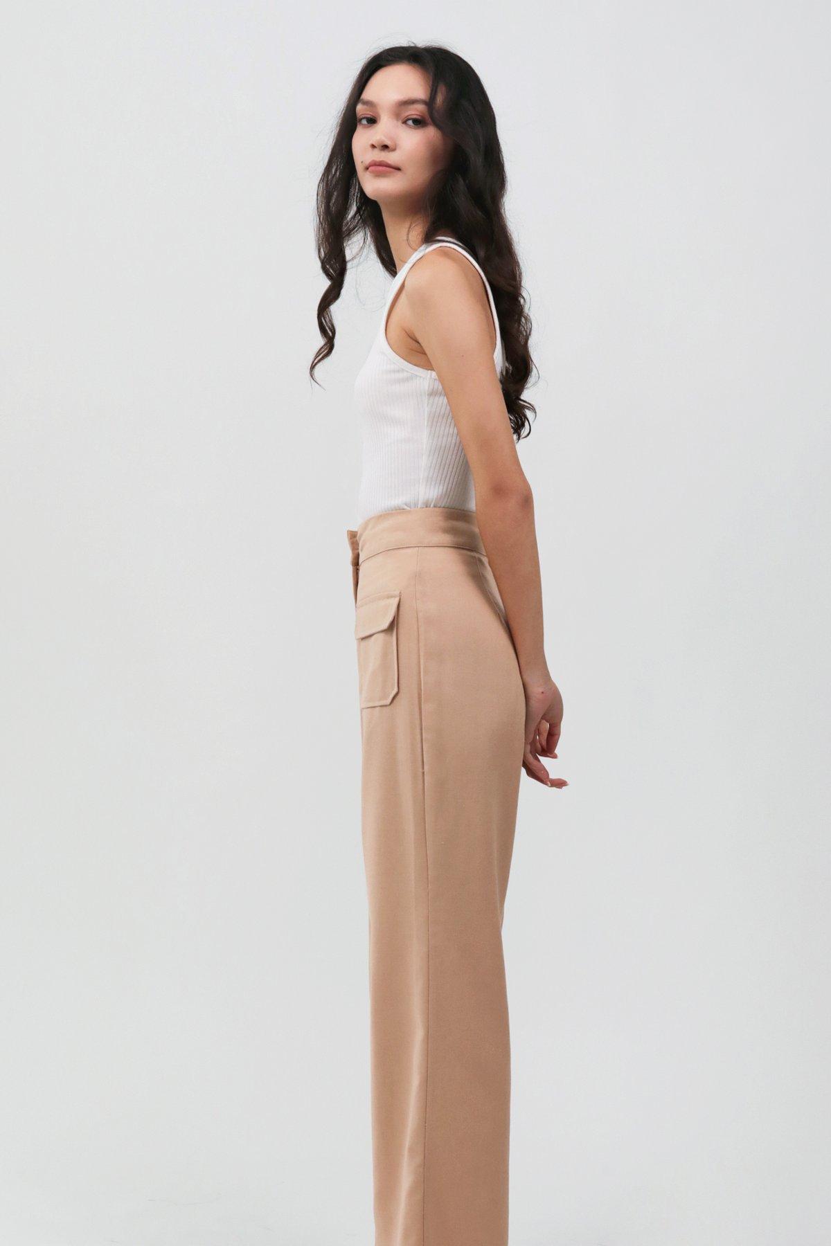 Archer Pocket Pants (Latte)