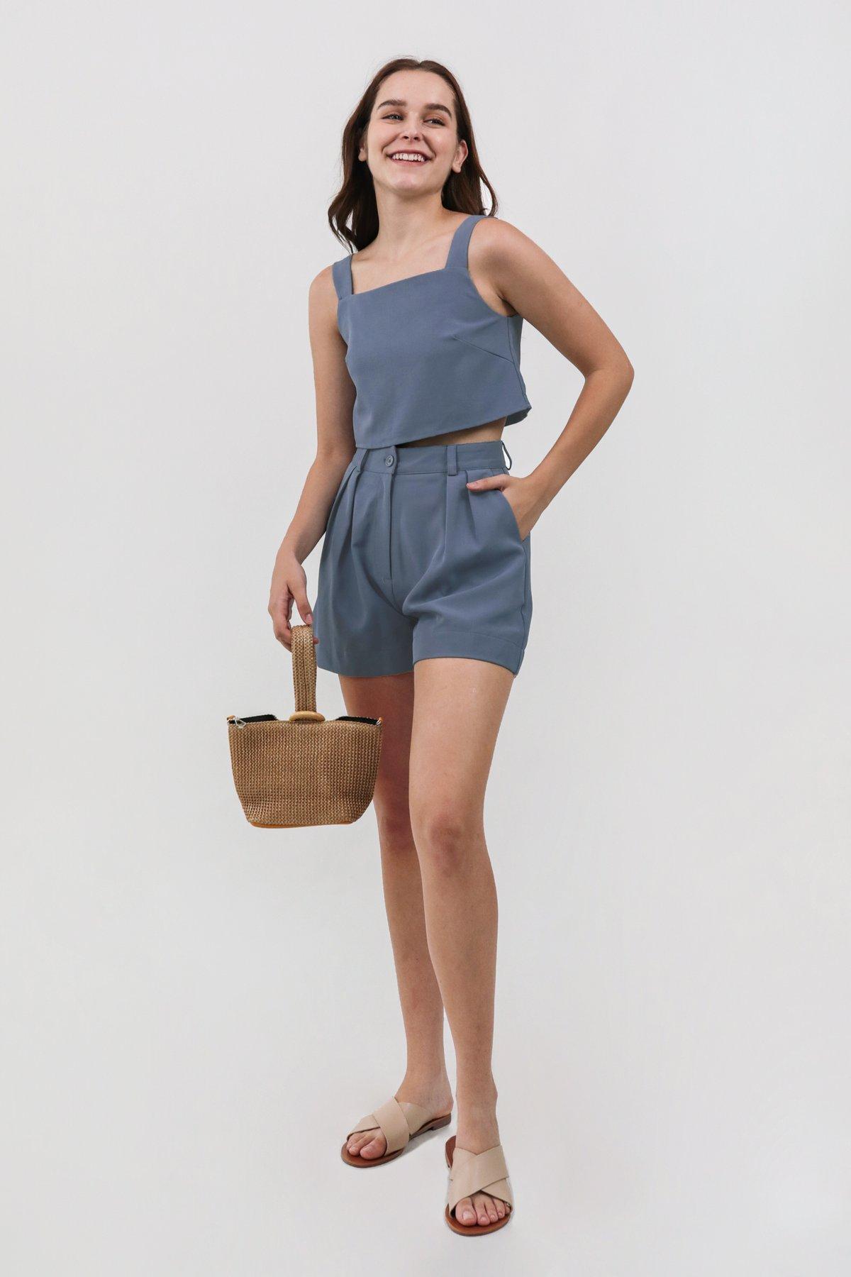 Cara Shorts (Dusty Blue)