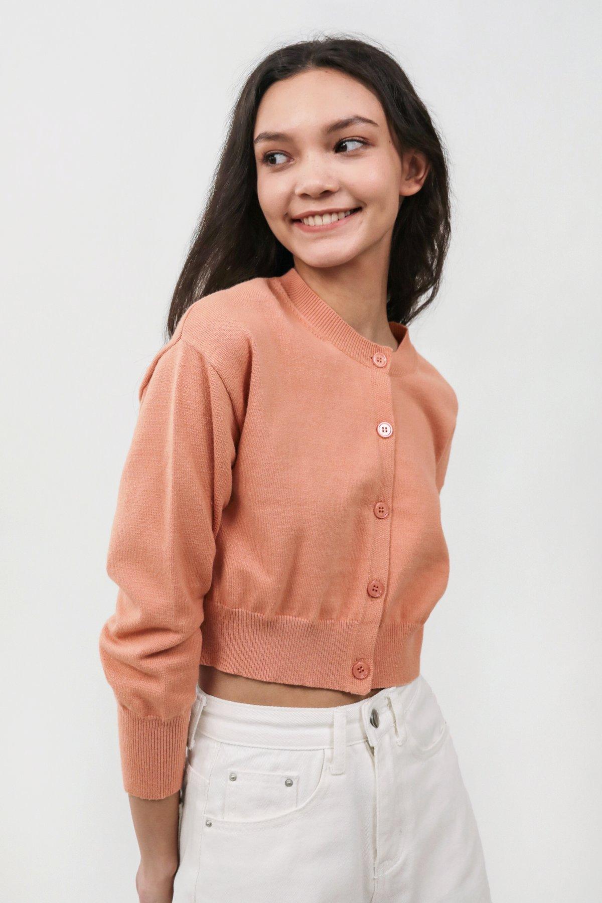 Freshen Knit Cardigan (Peach)