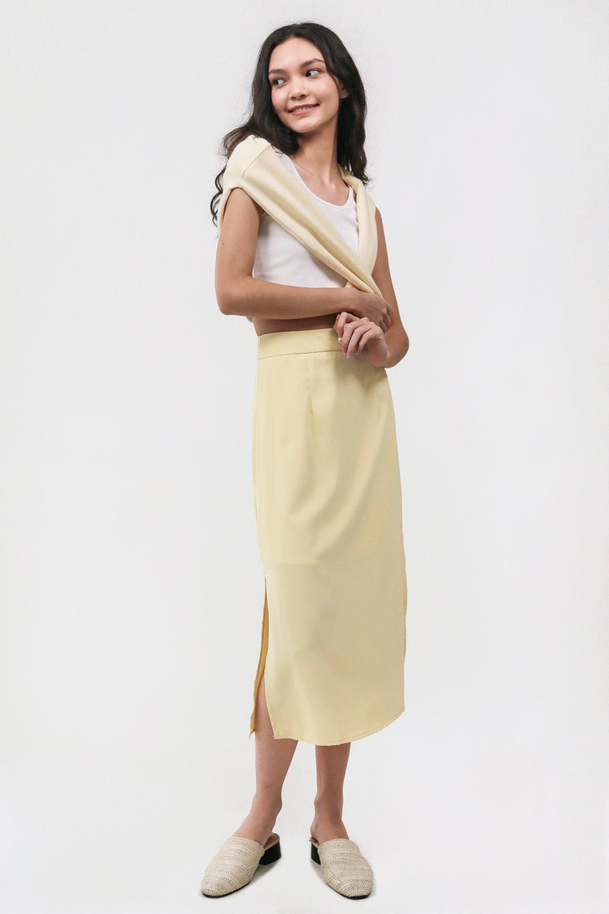 Issa Skirt (Light Yellow)