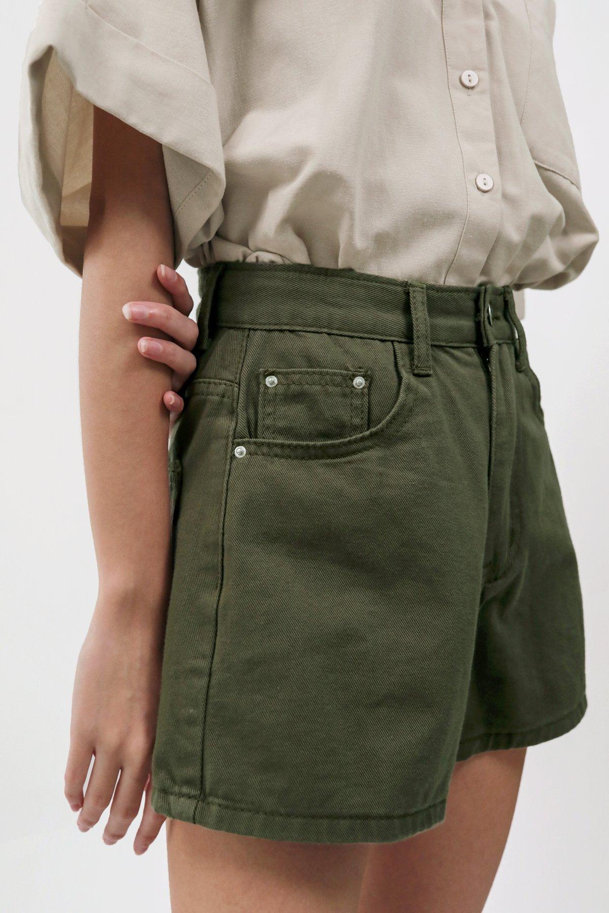 Josh Denim Shorts (Olive)