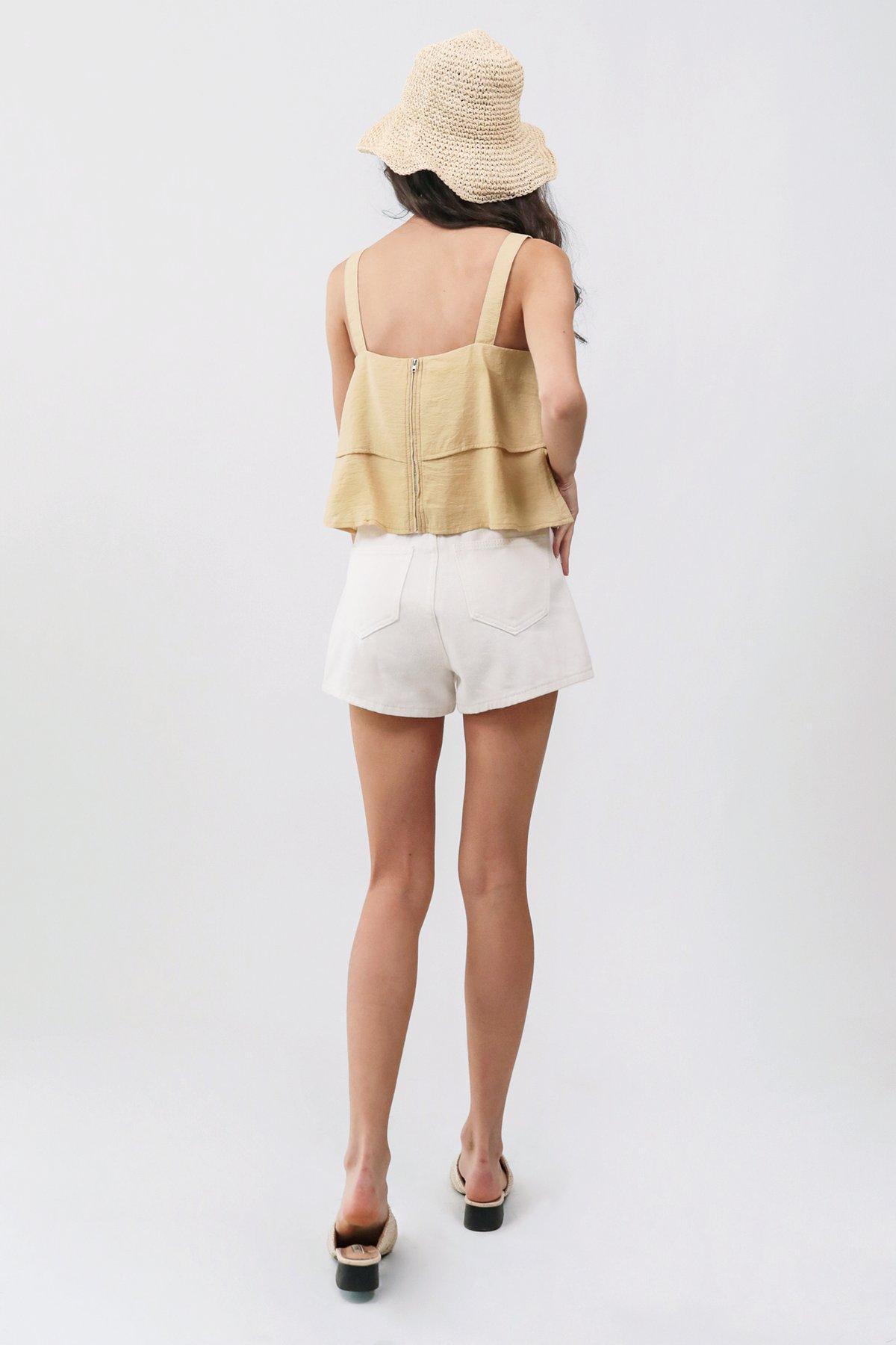 Josh Denim Shorts (White)