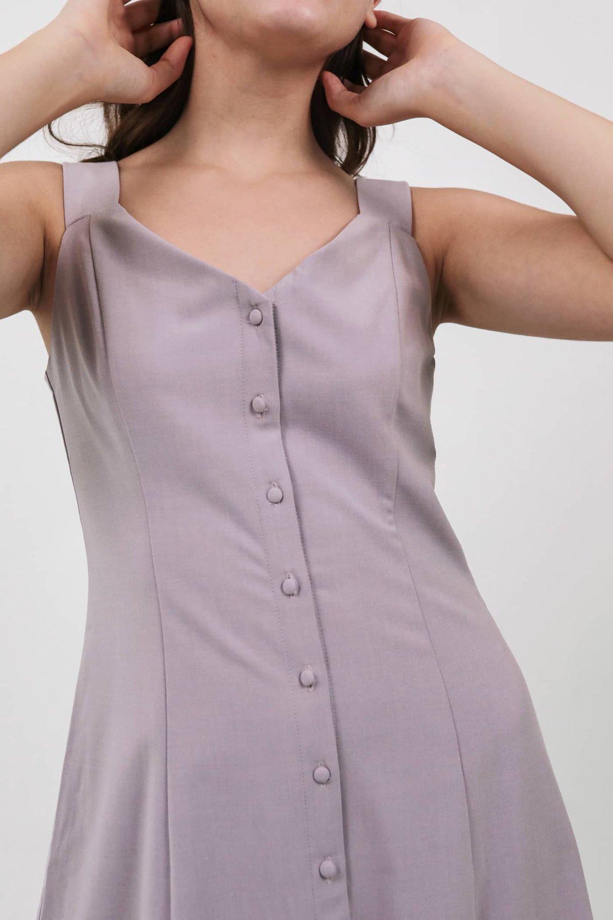 Kyan Button Down Dress (Lilac)