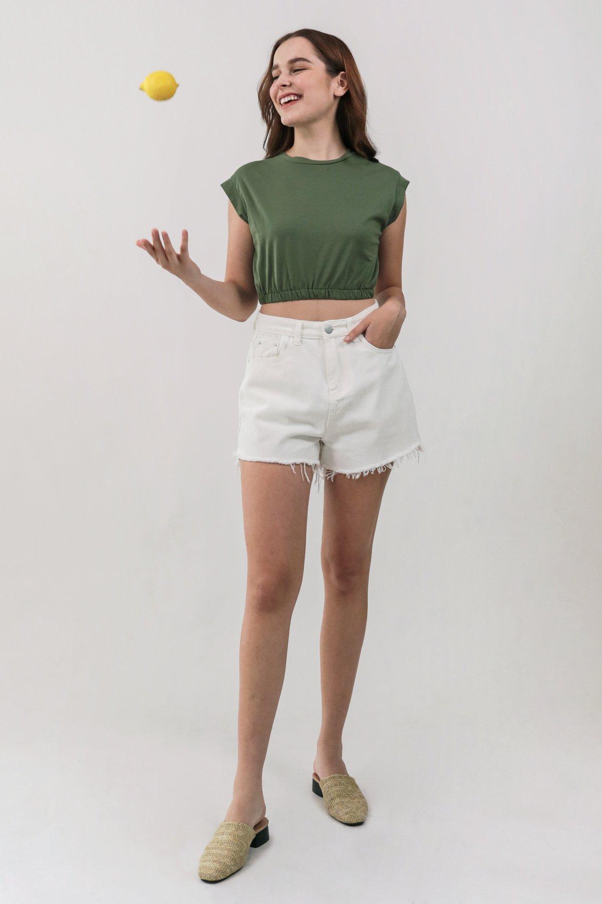 Leyla Cropped Top (Hunter Green)