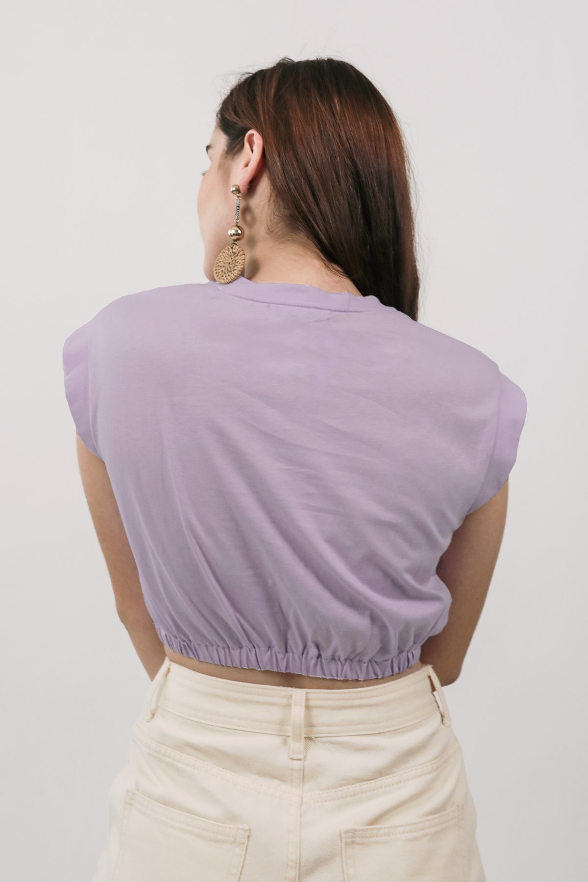Leyla Cropped Top (Lilac)