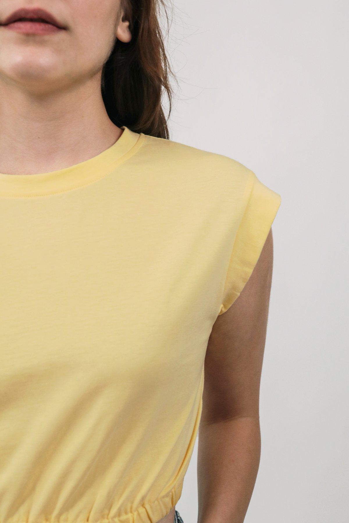 Leyla Cropped Top (Yellow)