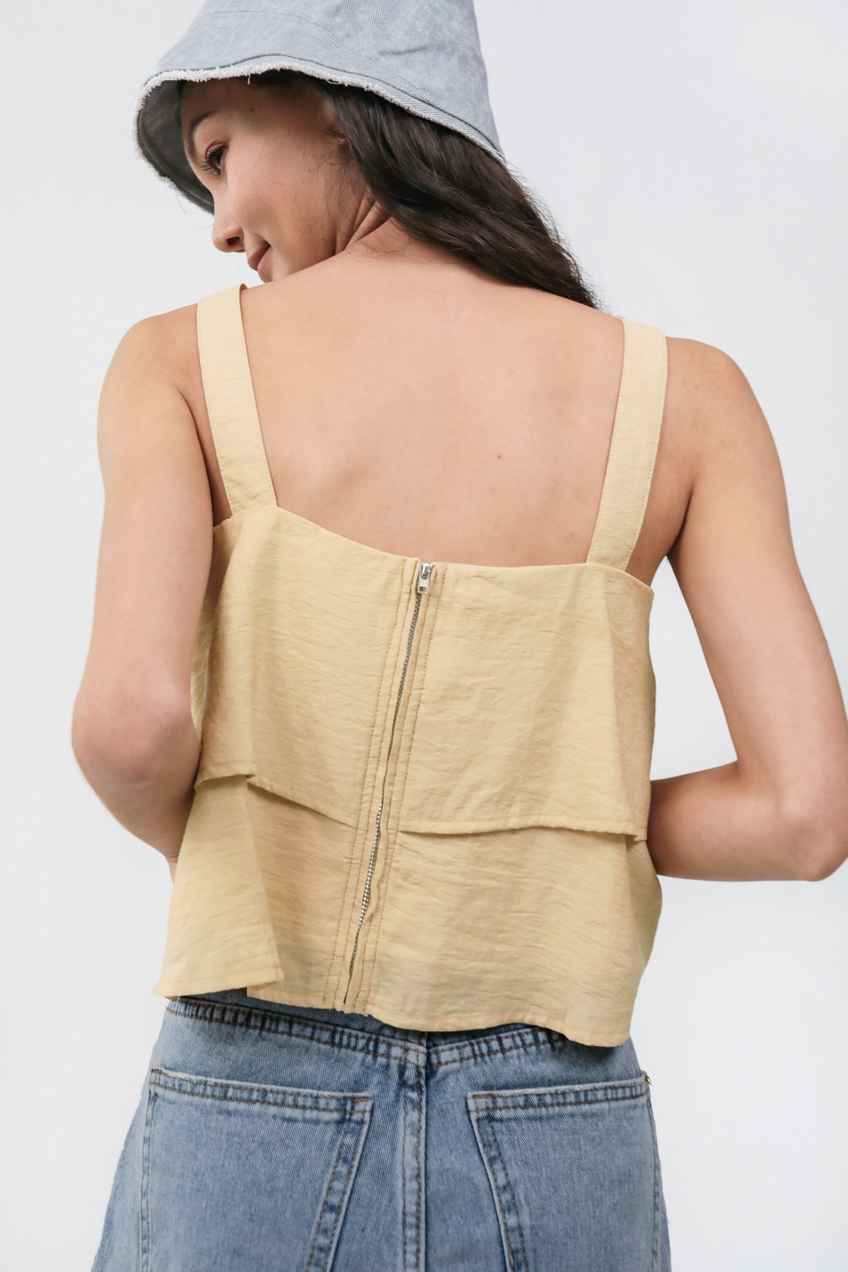 Merlin Tiered Top (Muted Yellow)