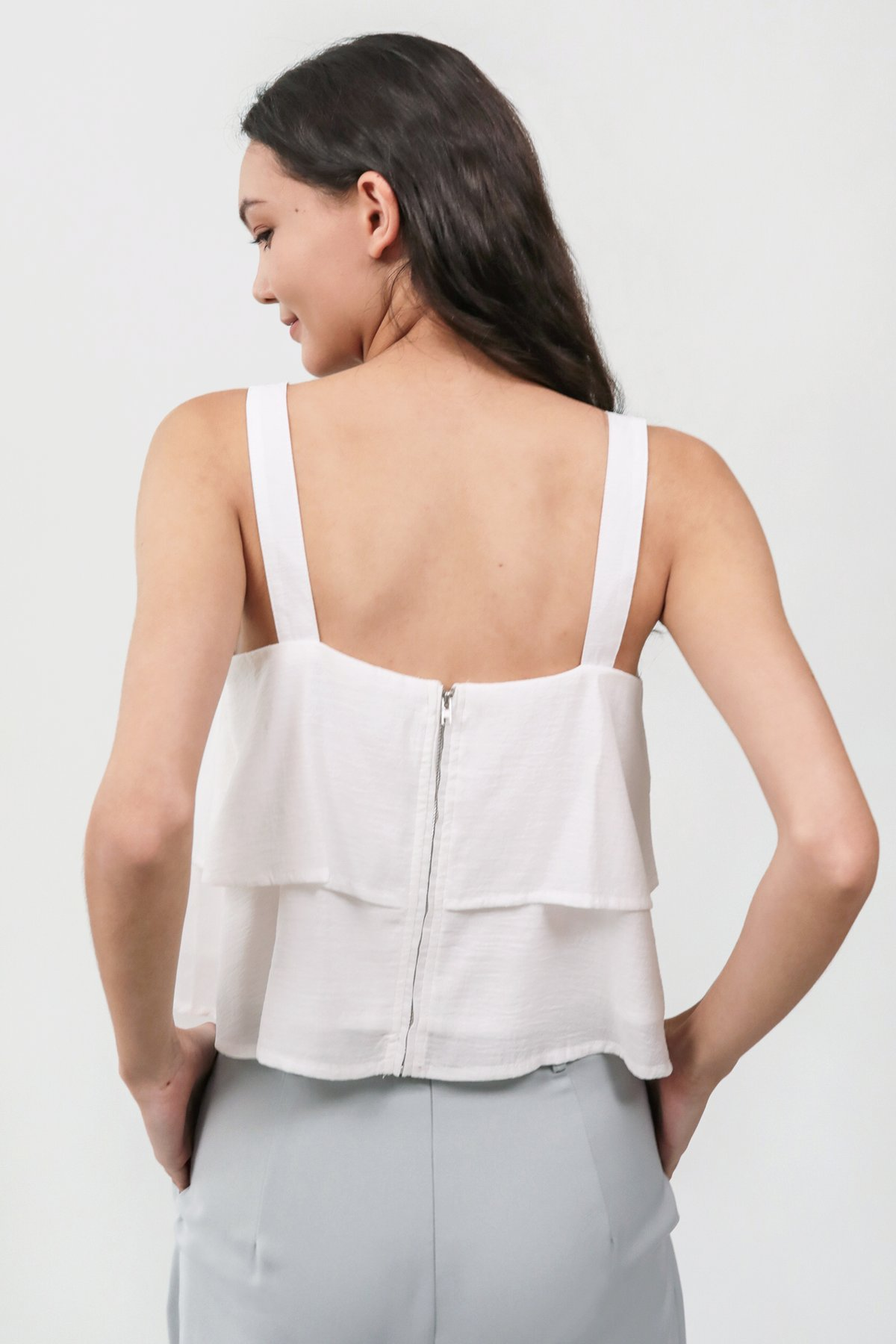 Merlin Tiered Top (White)