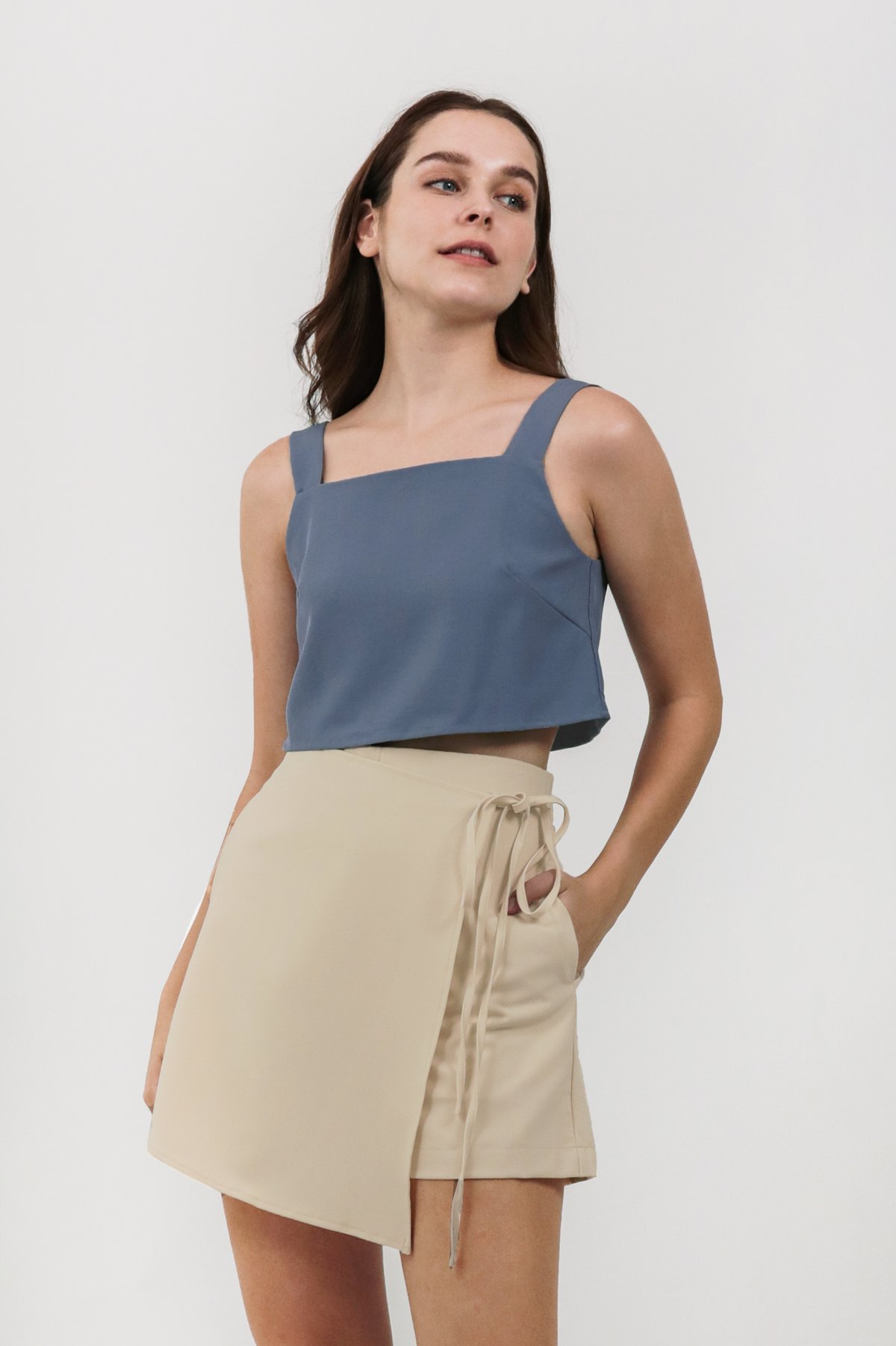 Philly Cropped Top (Dusty Blue)