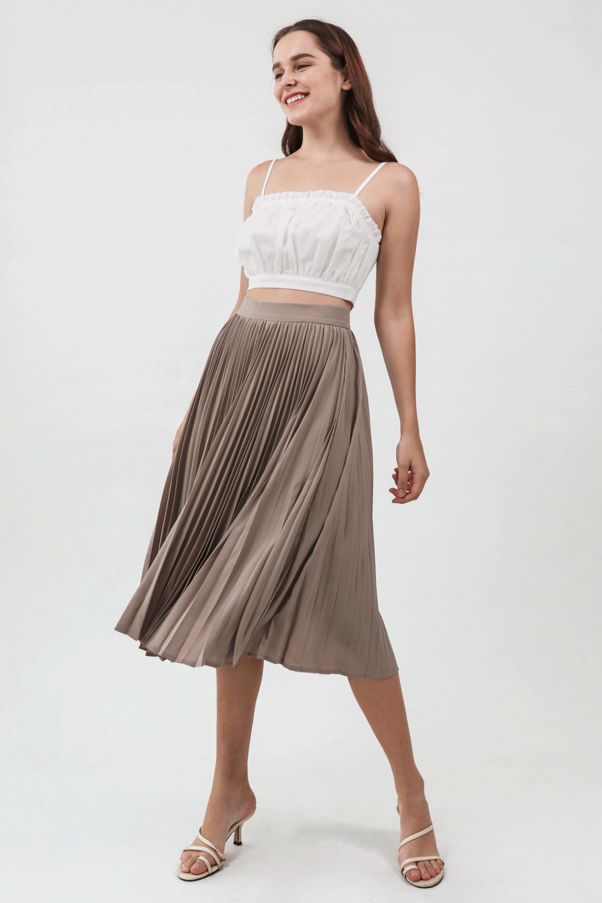 Sidney Cropped Top (White)