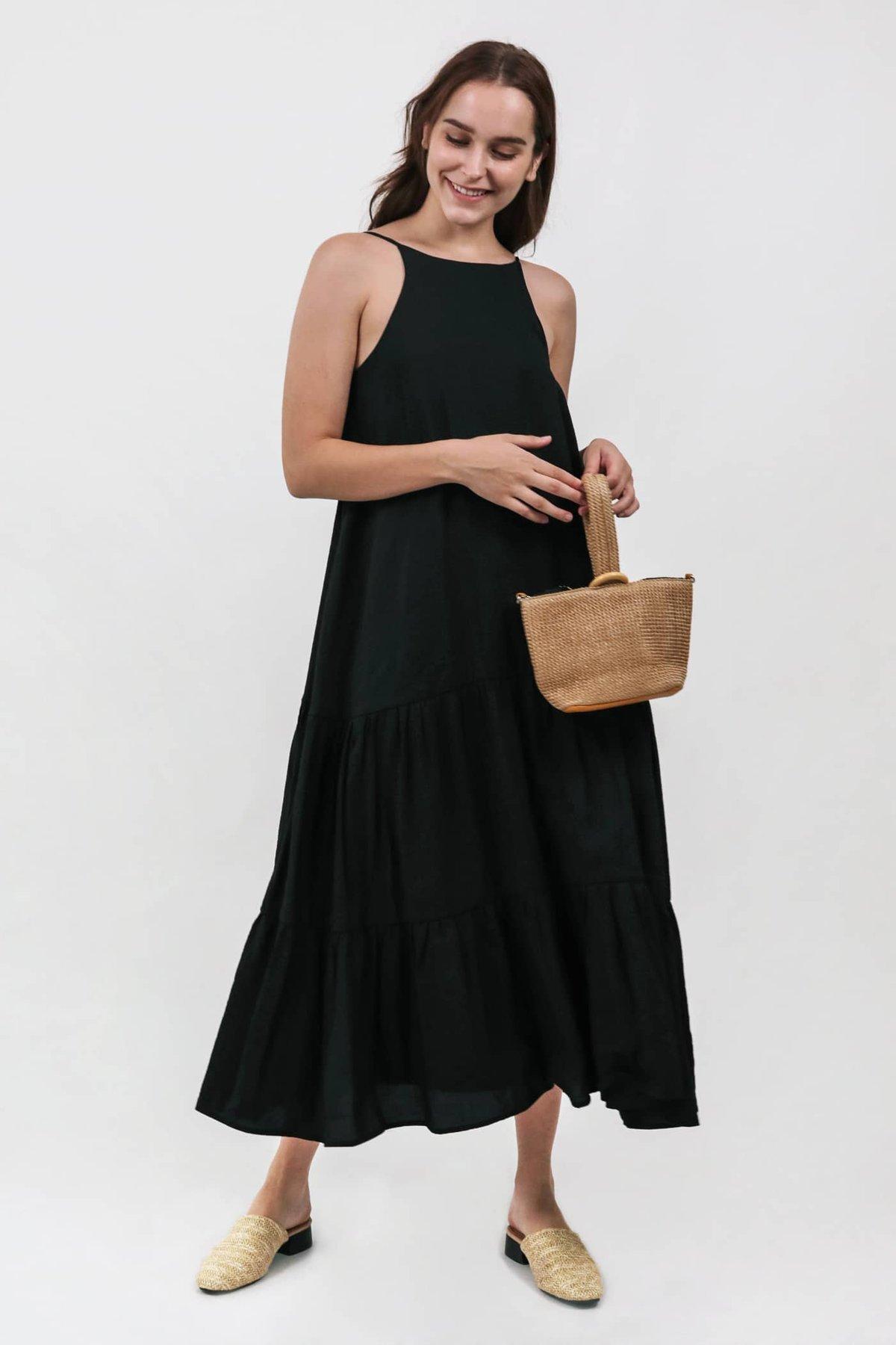Zarah Two Way Maxi Dress (Black)