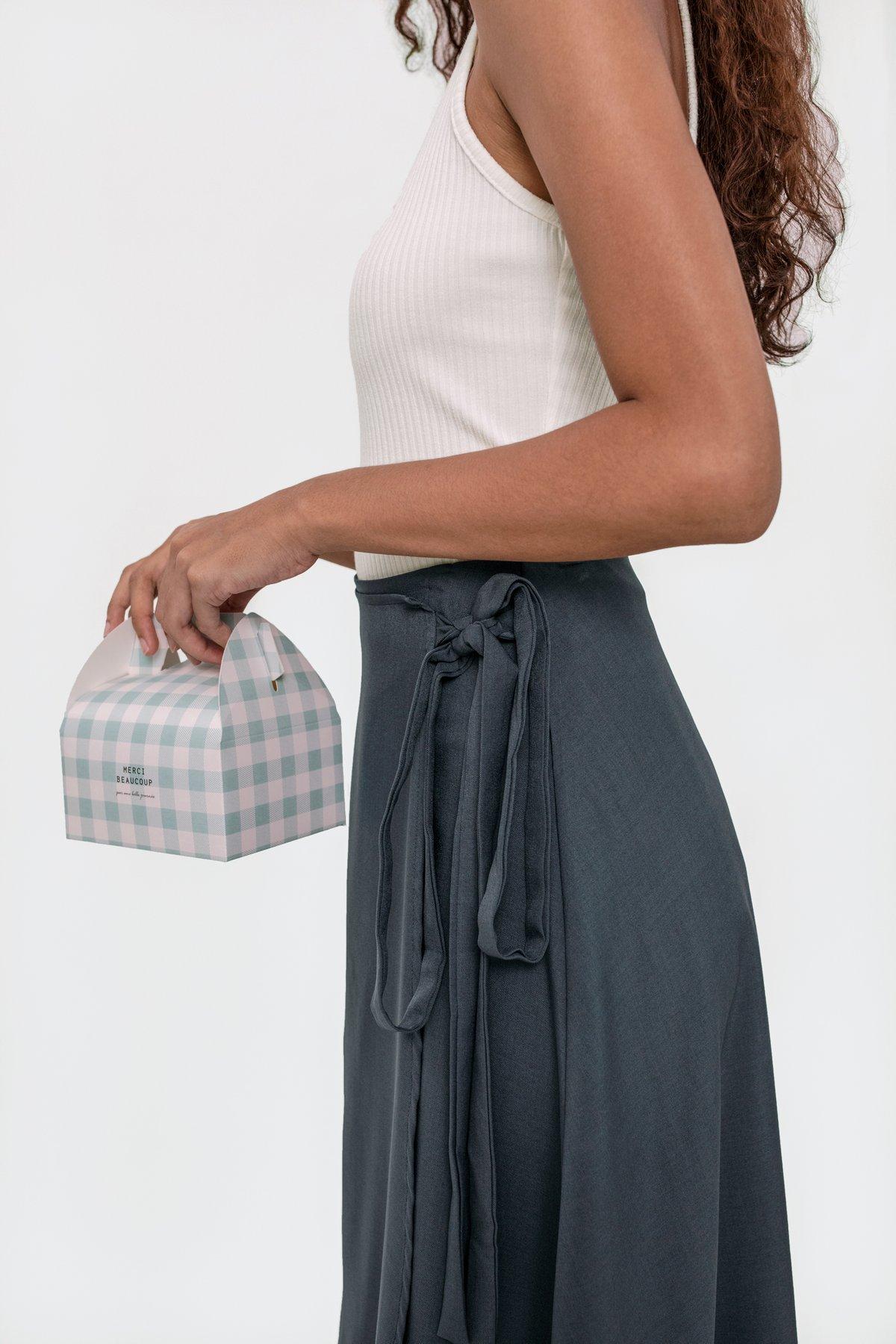 Antony Midi Skirt (Slate Blue)