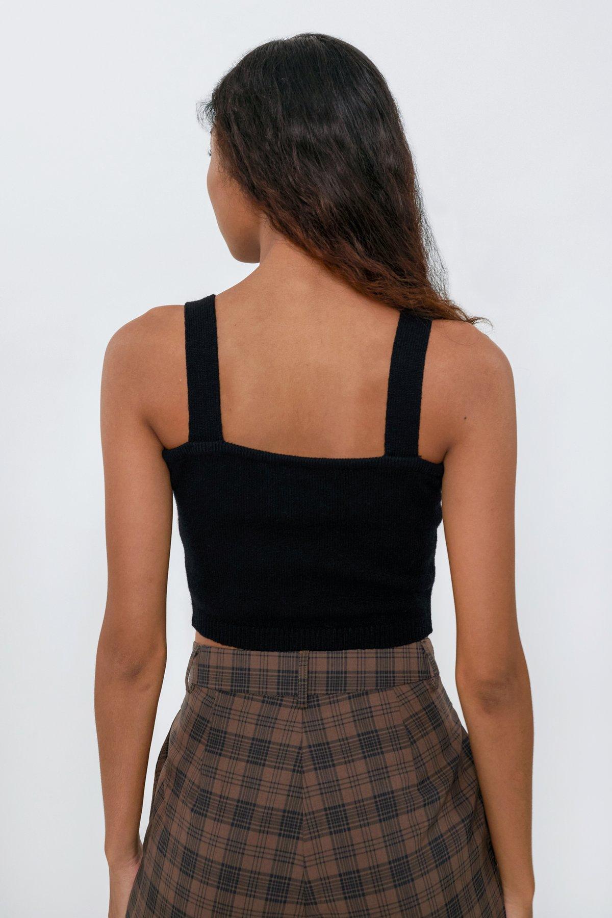 Arley Knit Bralet (Black)
